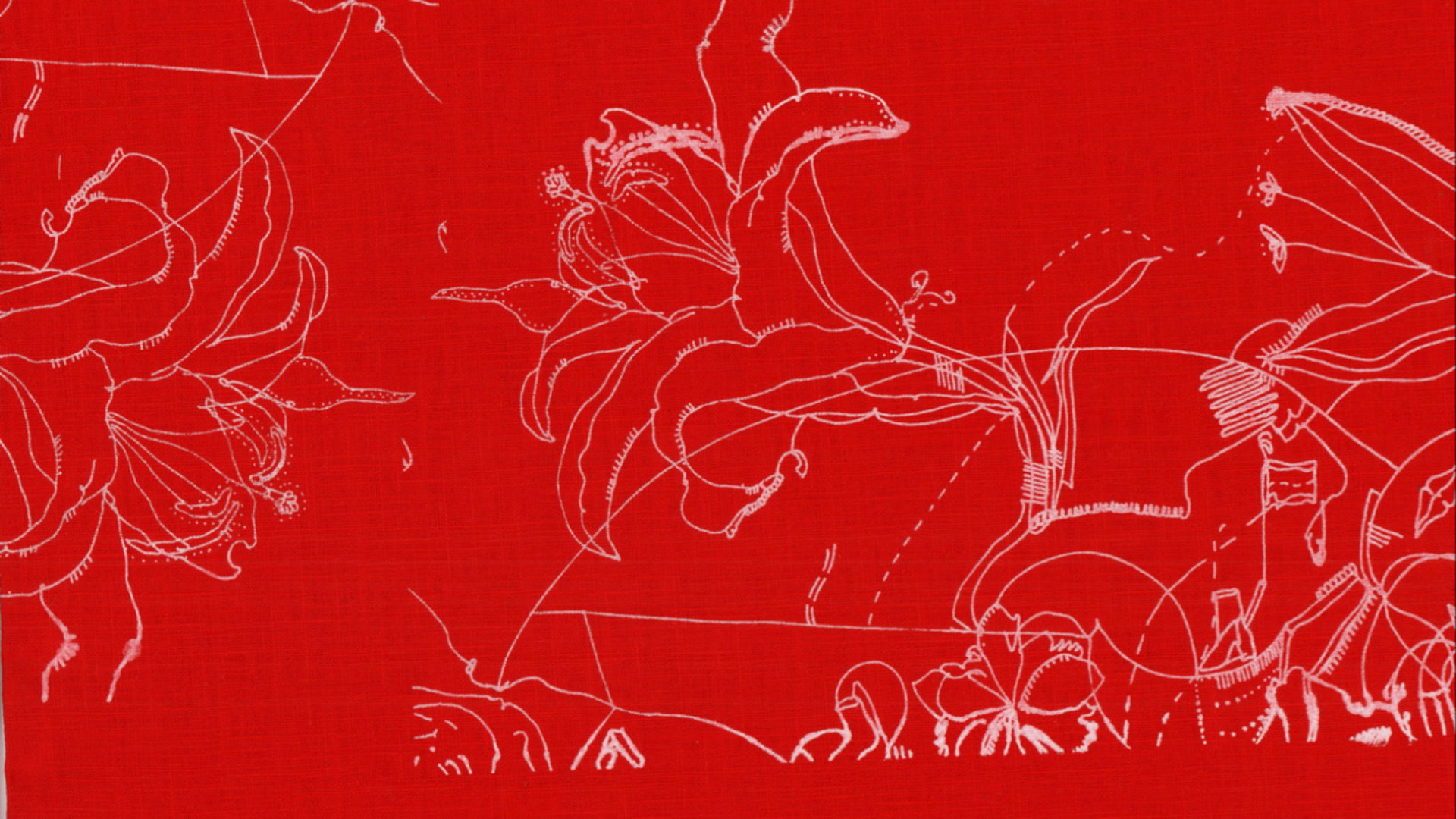 floral motif detail