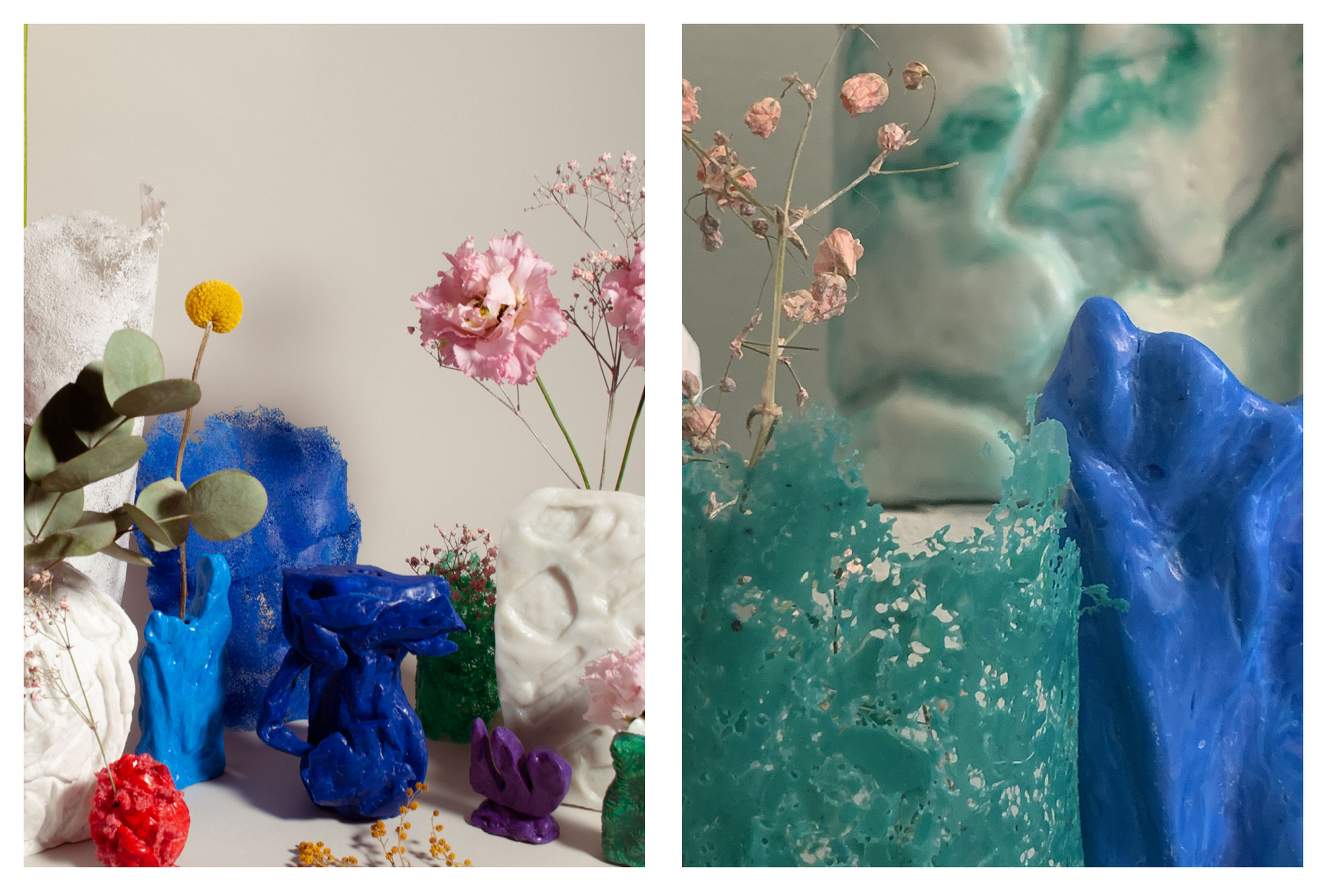 Recycled HDPE objects: my neighbour's mementos