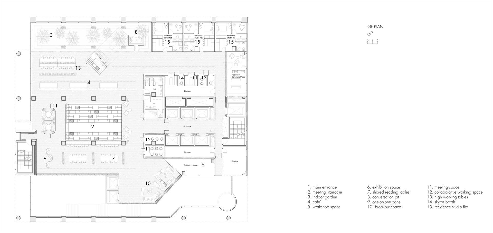 The Urban Living Room: Ground Floor Plan | Digital Drawing