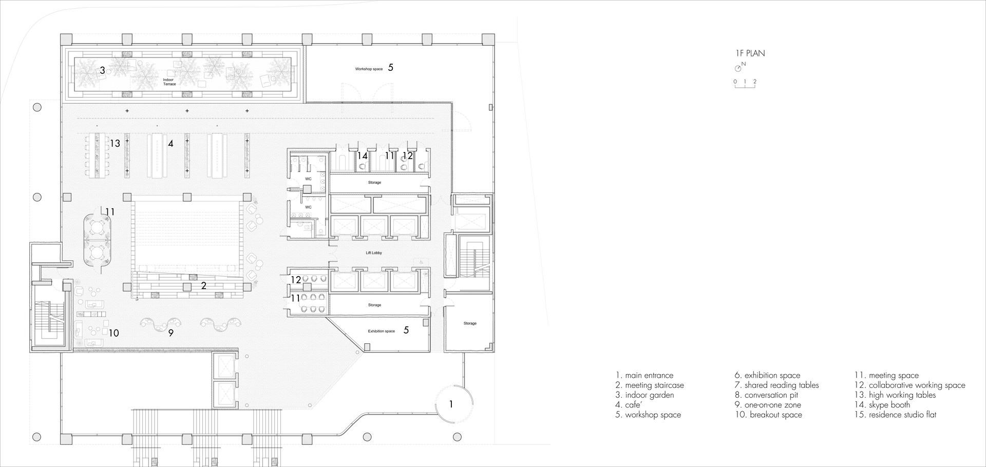 The Urban Living Room: 1 Floor Plan | Digital Drawing