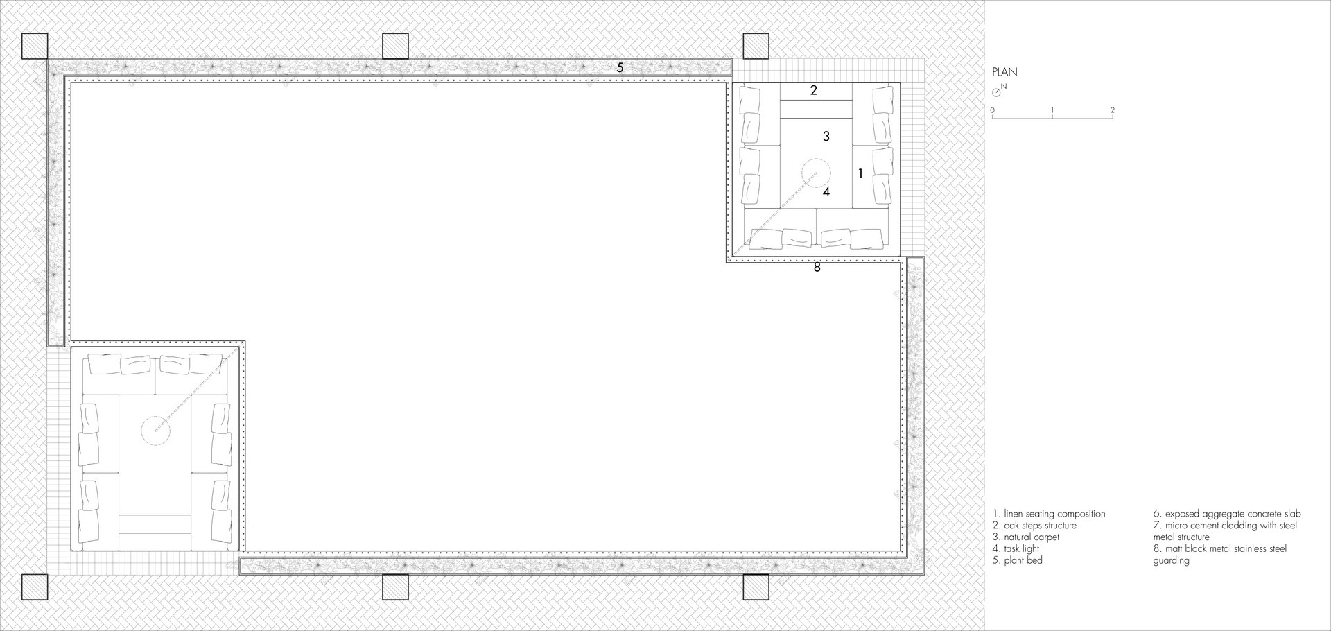 Conversation Pits: Plan | Digital Drawing