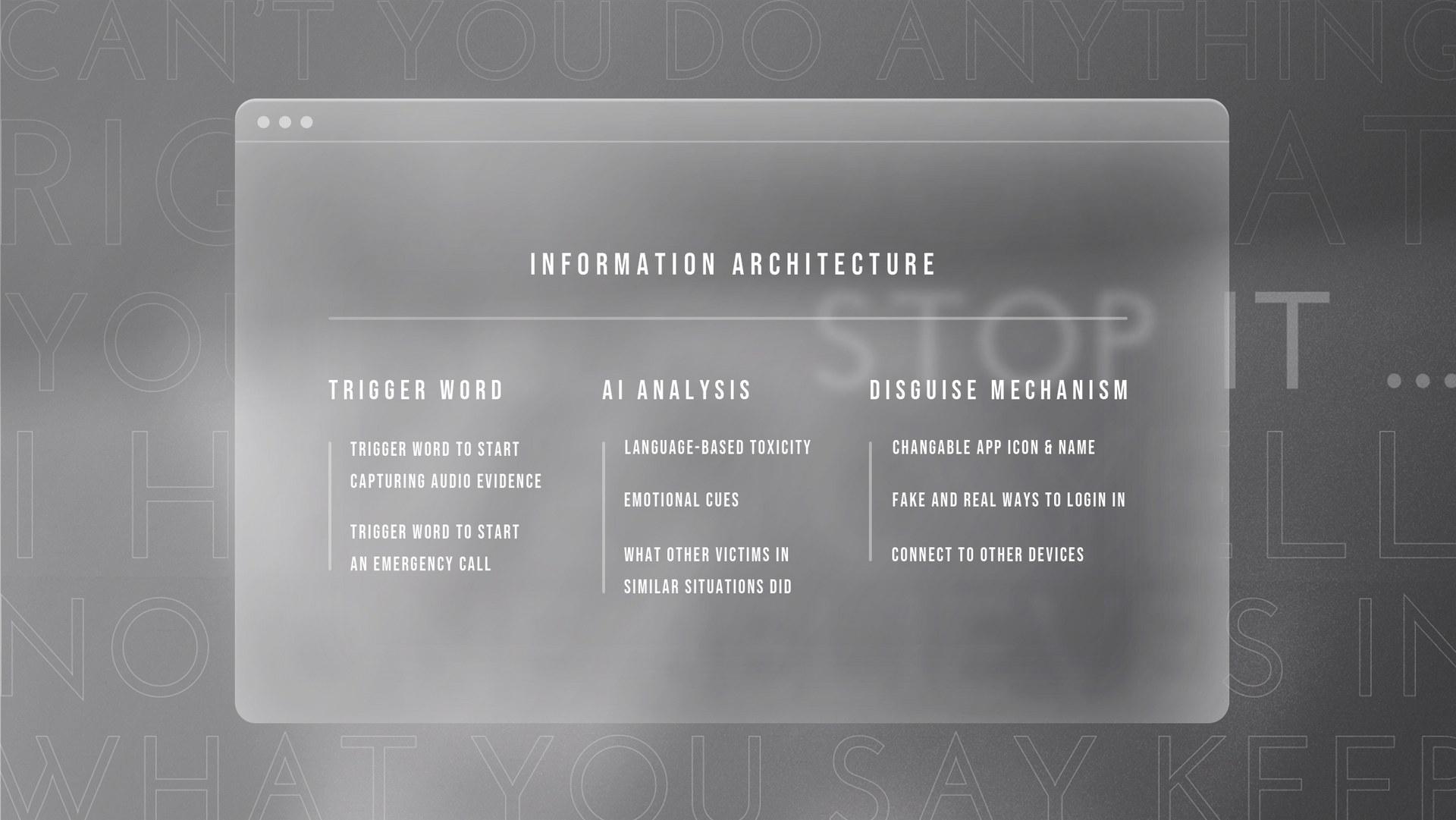 Information architecture of Cepi