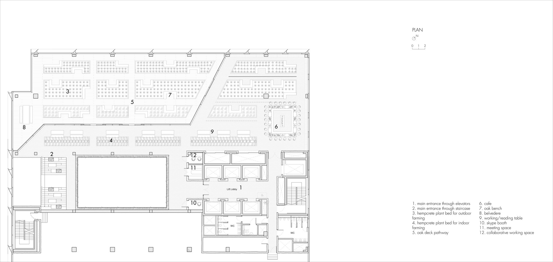 The Farm Club: Plan | Digital Drawing