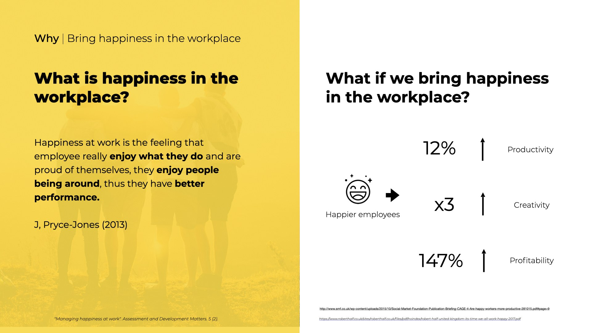 What if we bring happiness in the workplace?