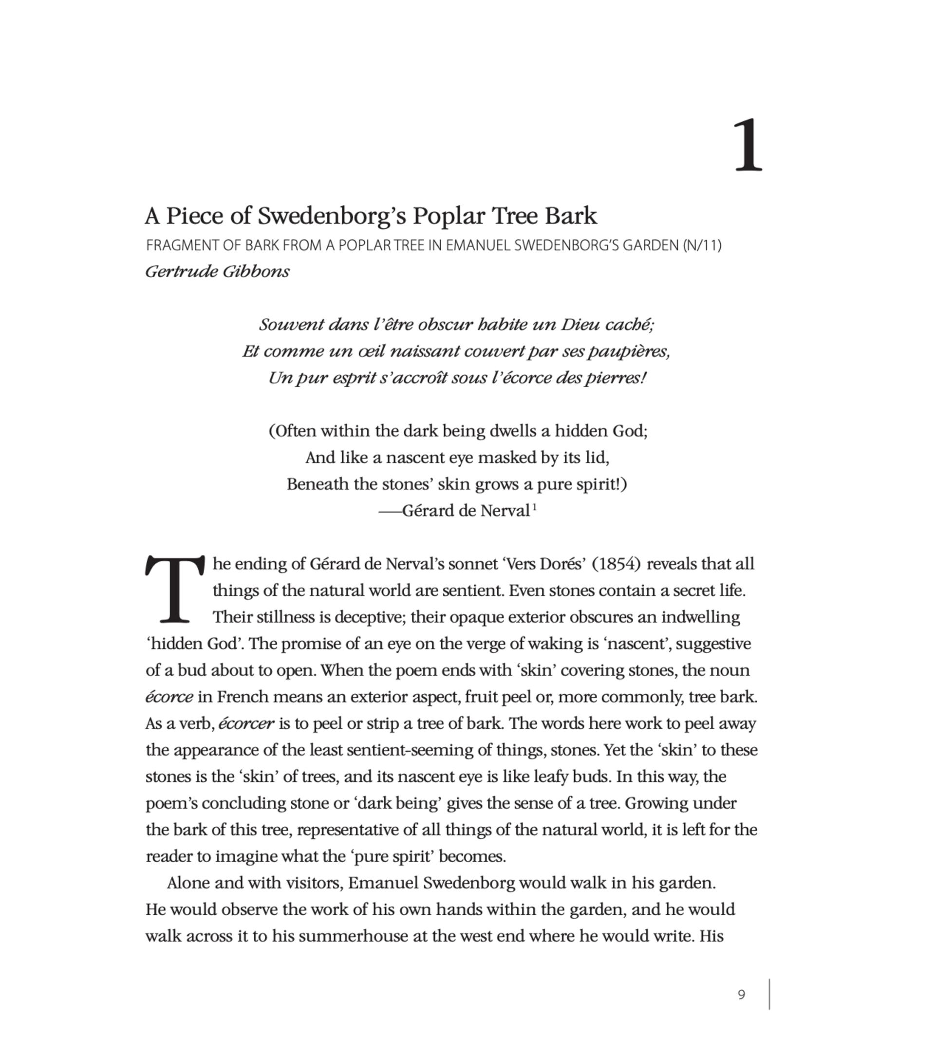 Introducing Swedenborg via Nerval