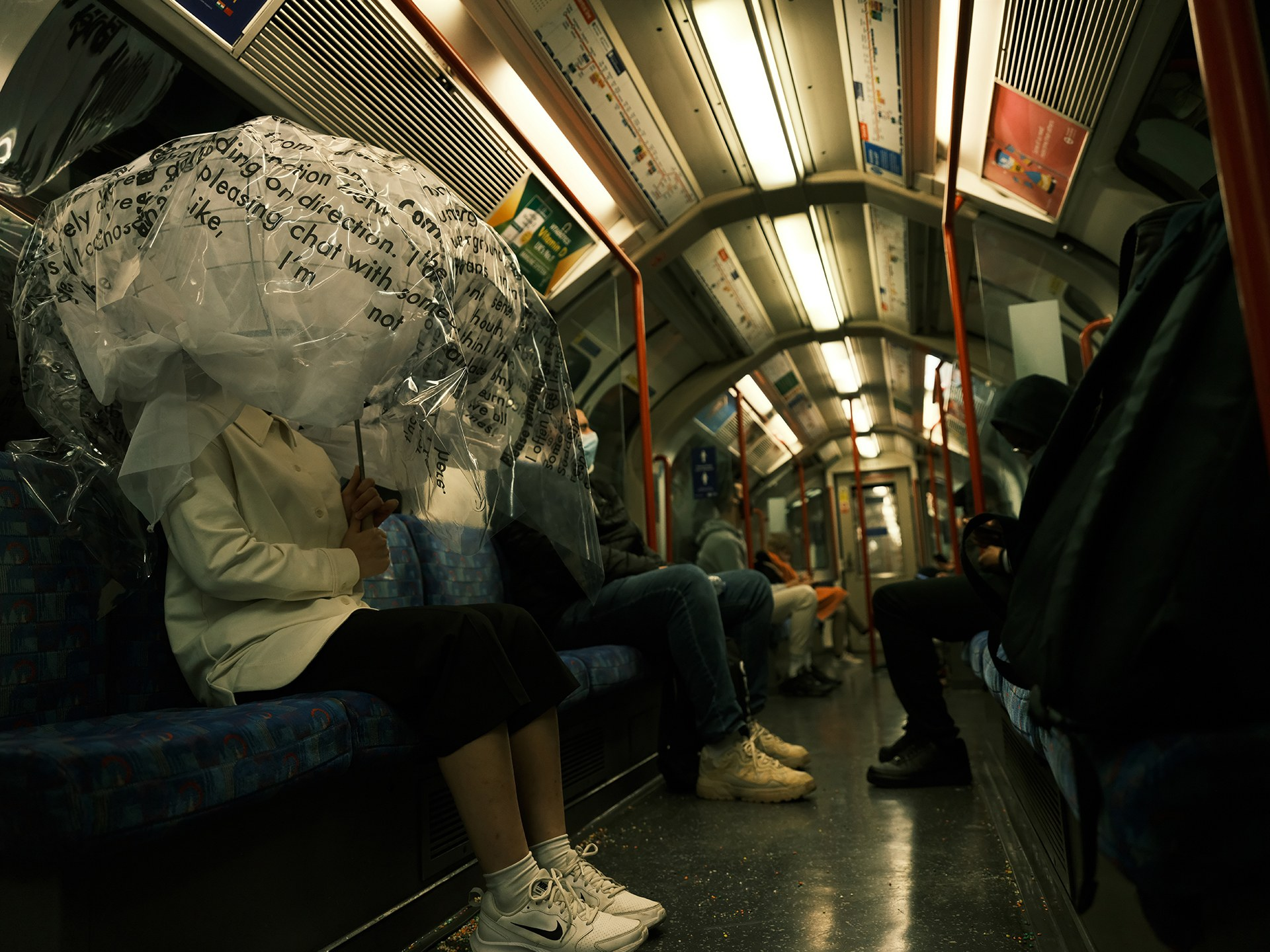 'Commute' on the Piccadilly Line, London, 2021