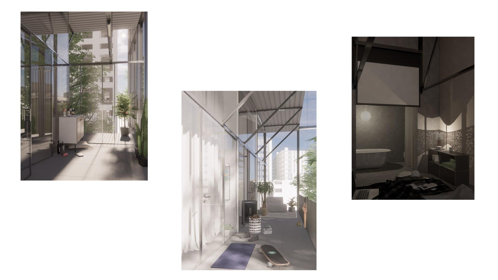 Buffer zone - balcony - Lee's bedroom