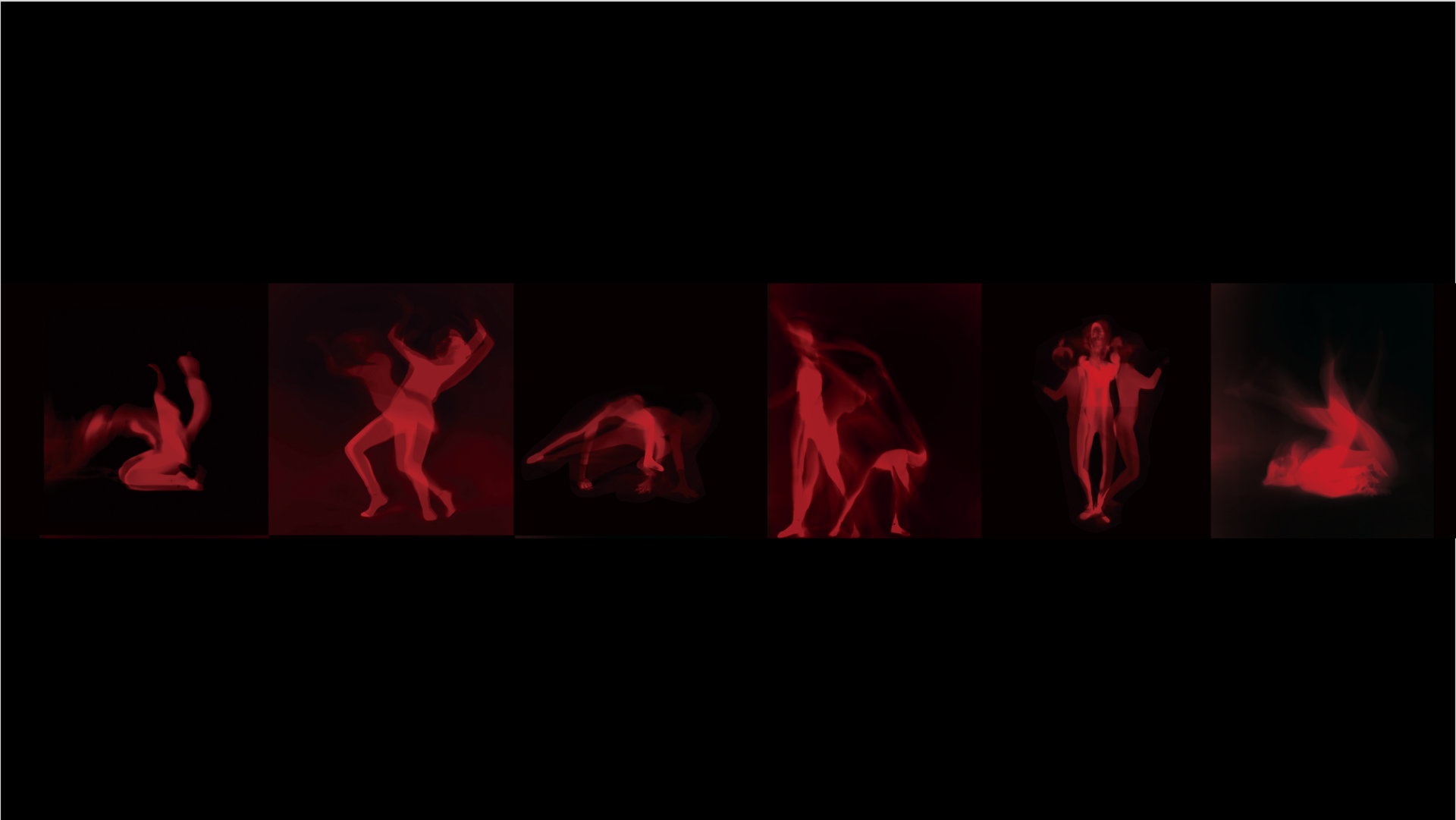 -A ROW OF RED DANCERS-