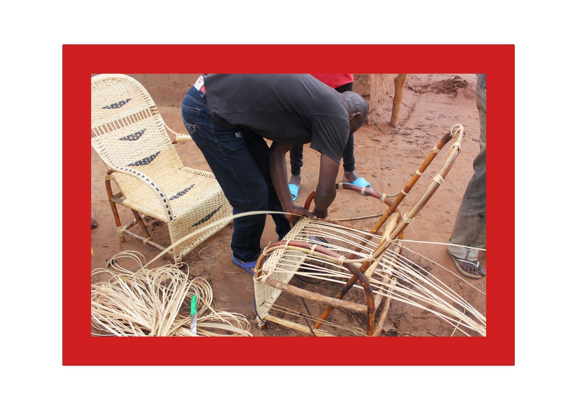 João making a chair