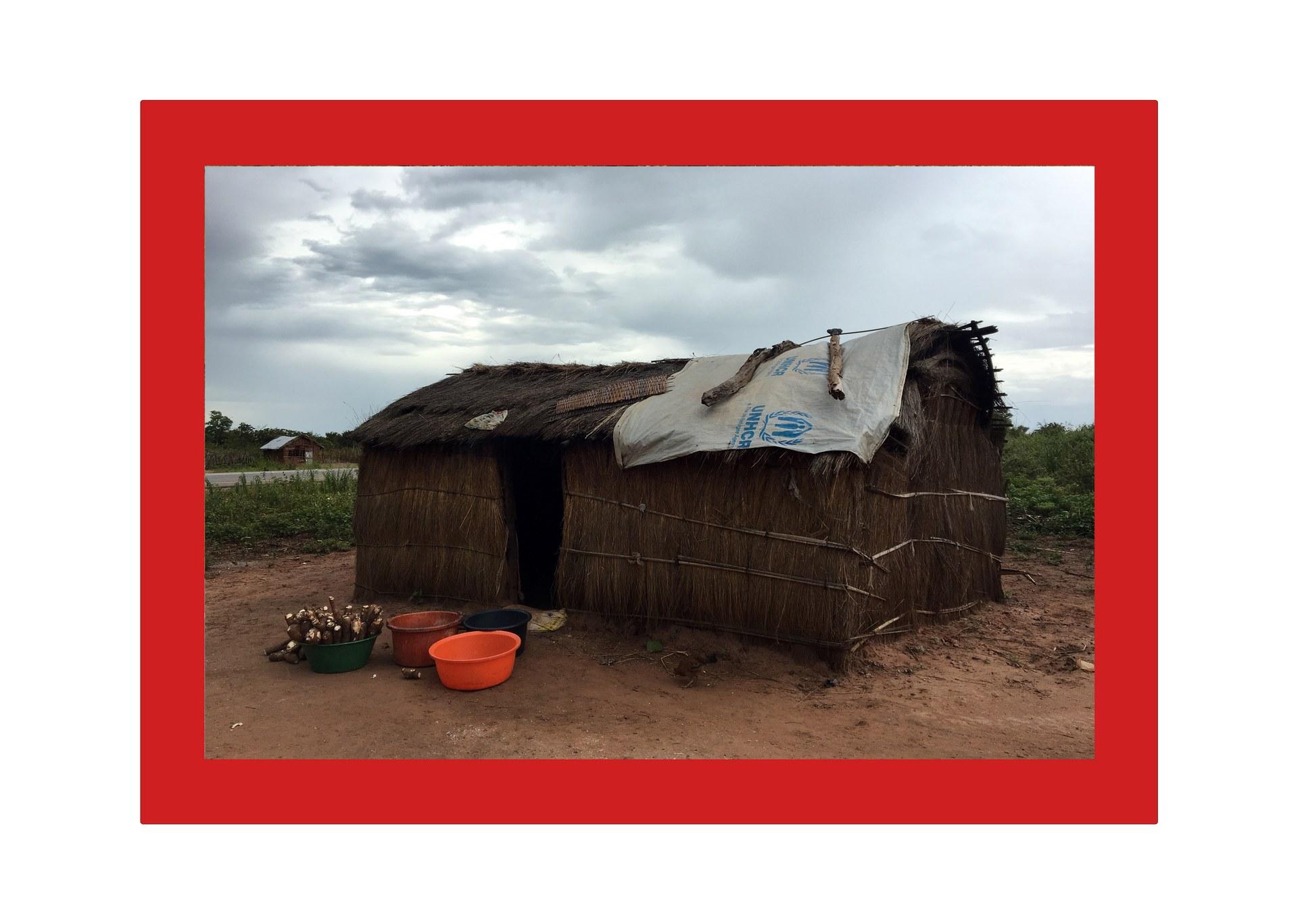 House in Chitato, Lunda Norte, Angola (plastic basin 4)