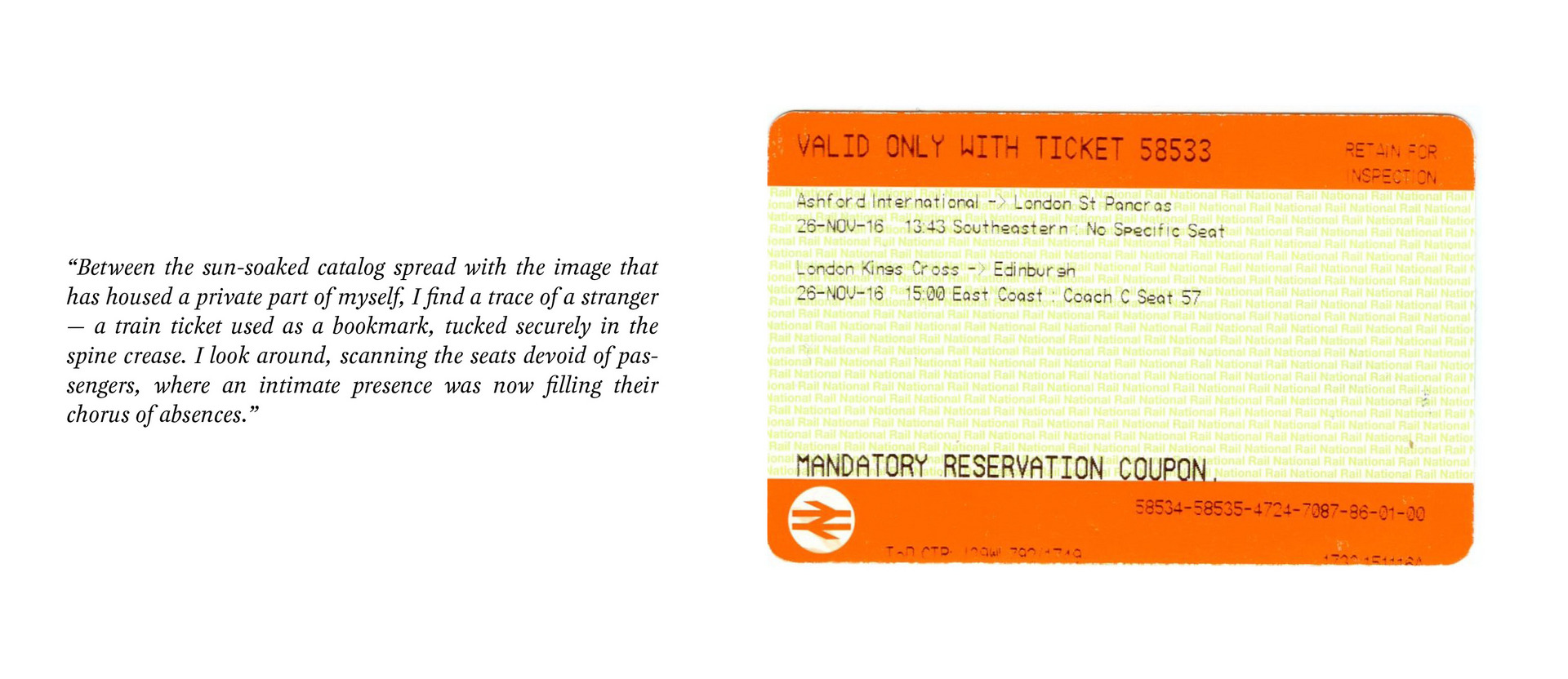 Found National Rail ticket