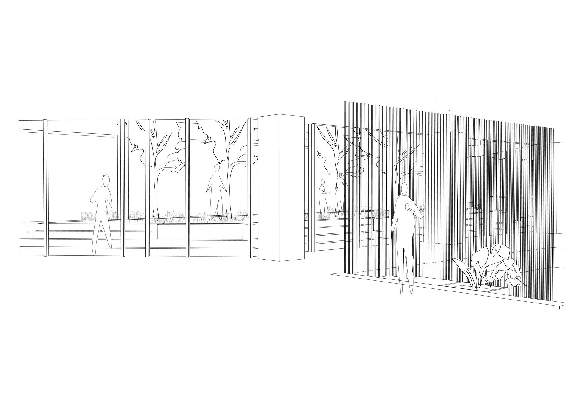 The Tech-Free Garden | Digital Sketch