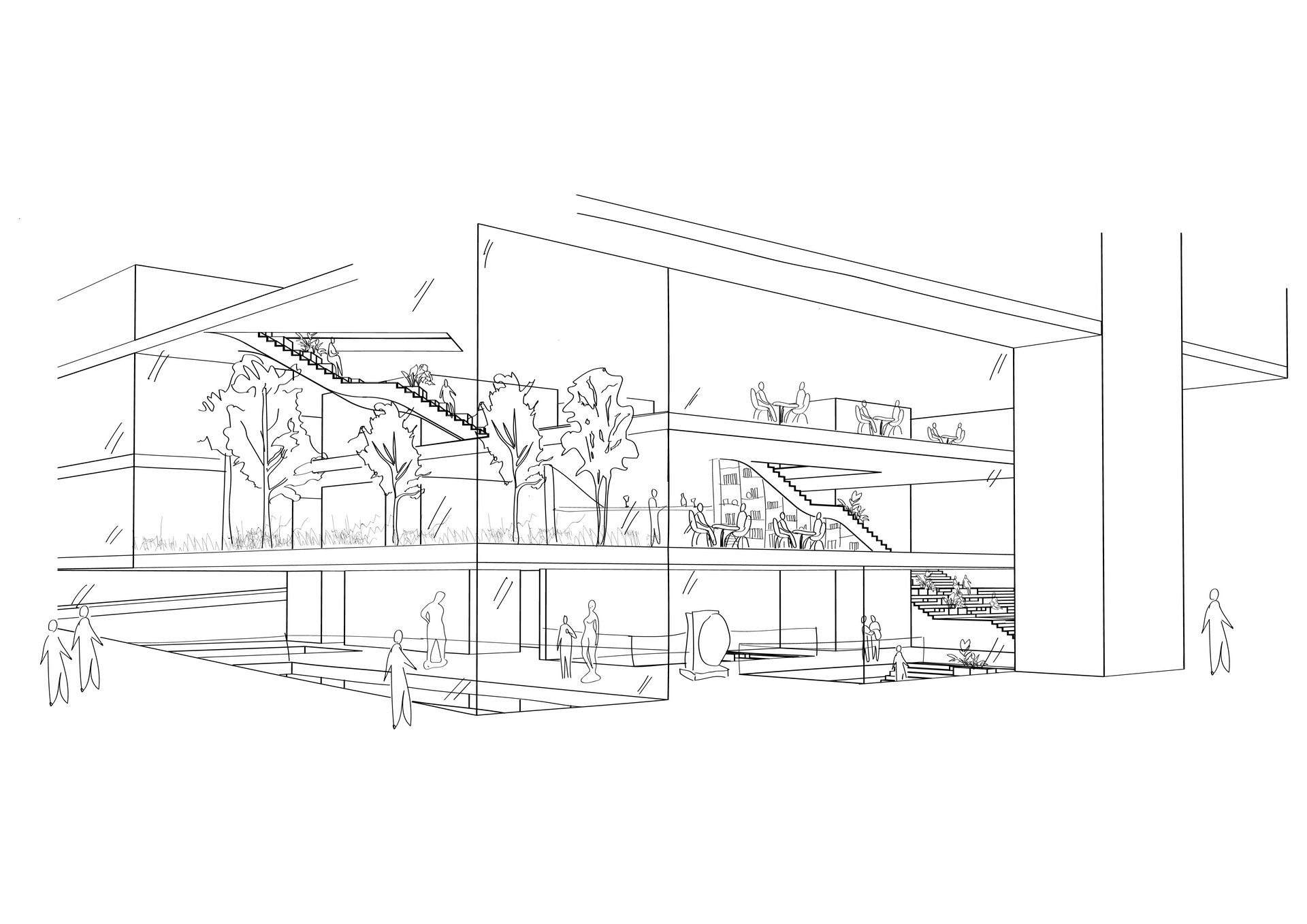 The Urban Living Room | Digital Sketch