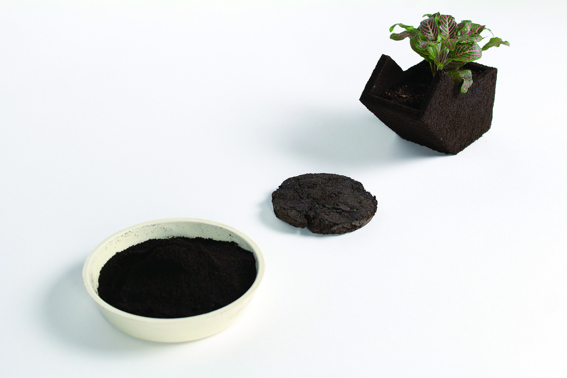 +POT is a multifunctional plant pot made from 100% recycled coffee grounds!