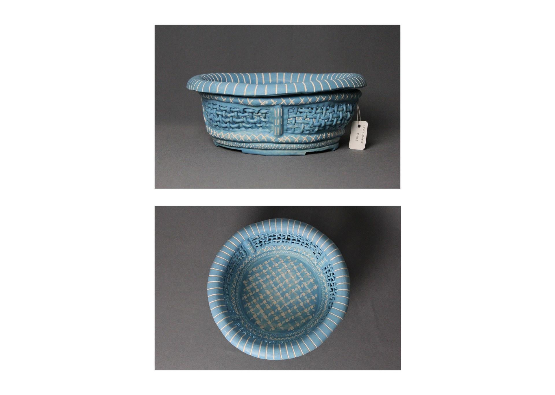 Object type: serving bowl Archive number: D1001 Dimensions H: 14cm W: 33cm D: 33cm