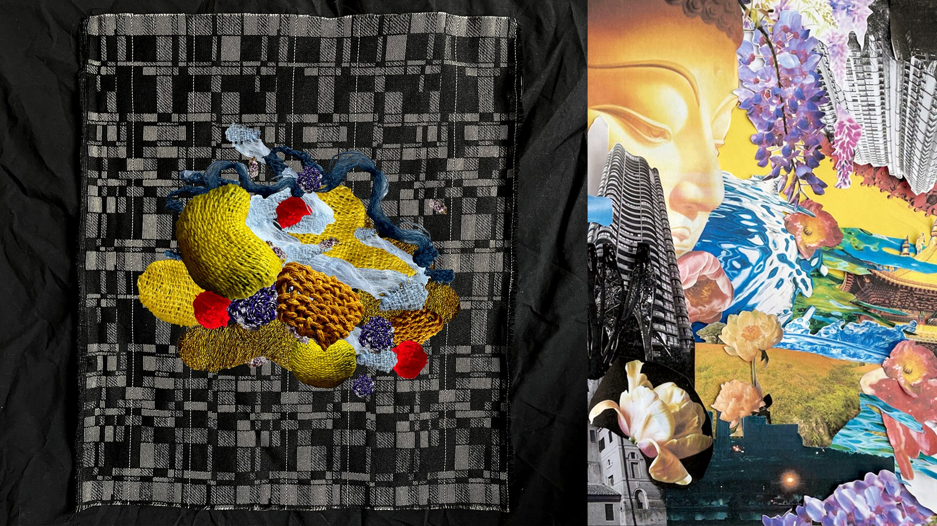 #2: Hand-woven sample with Jacquards / Collage