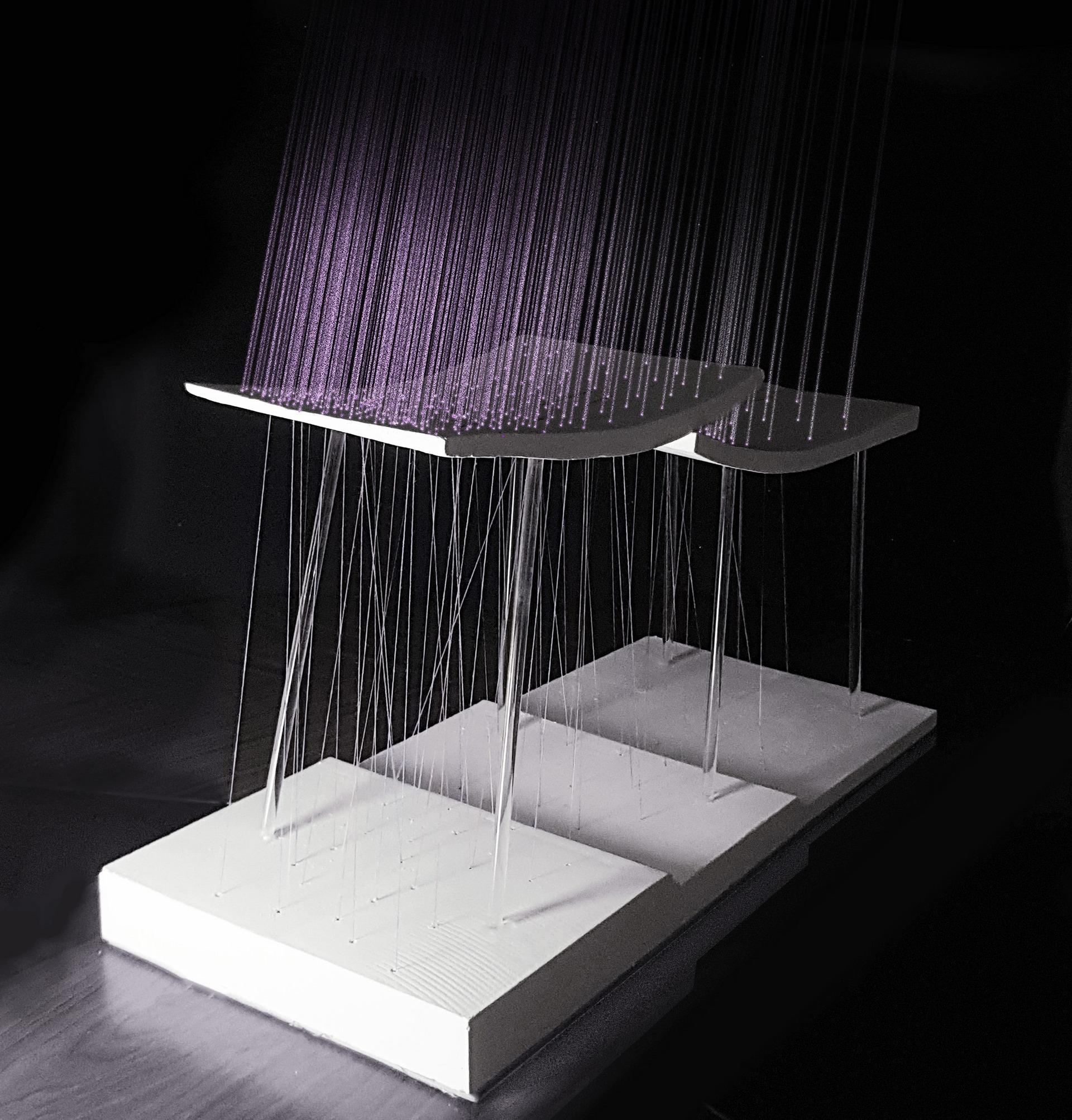 Plaster and Thread, lightness exploration.