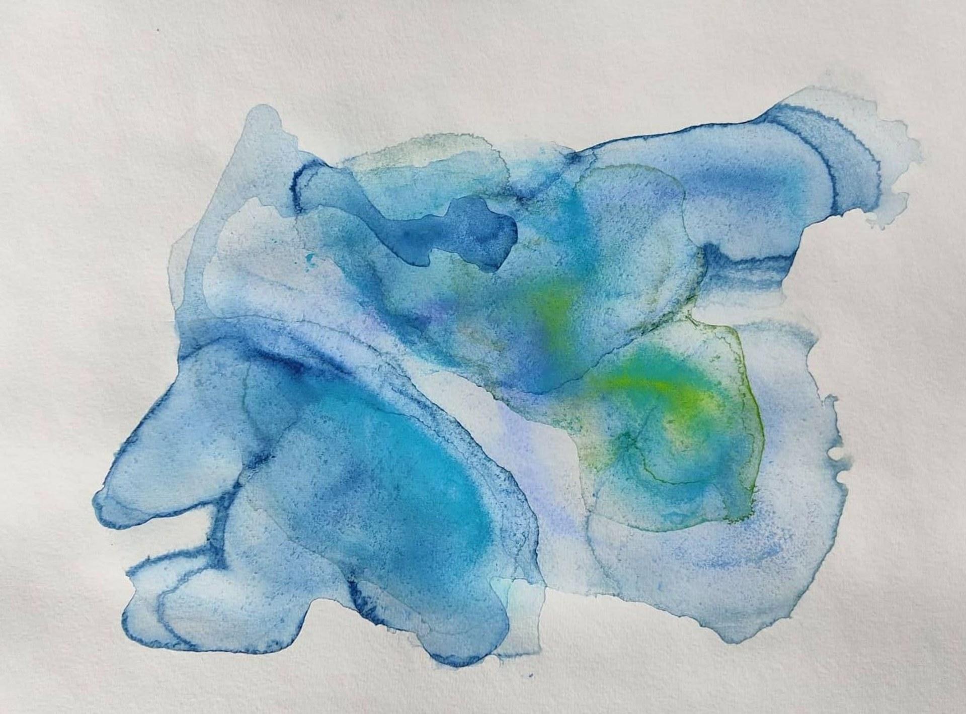 Blue ice. 42 x 29 cm.