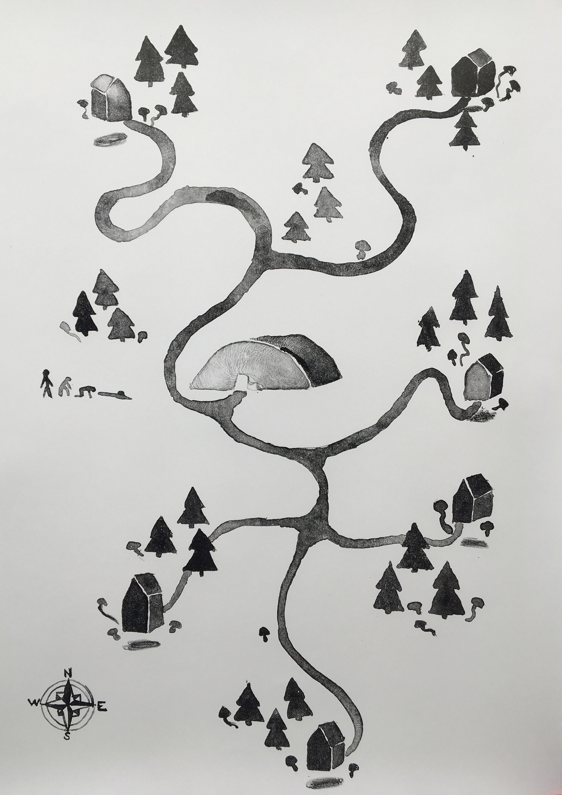 Map to the Concrete House