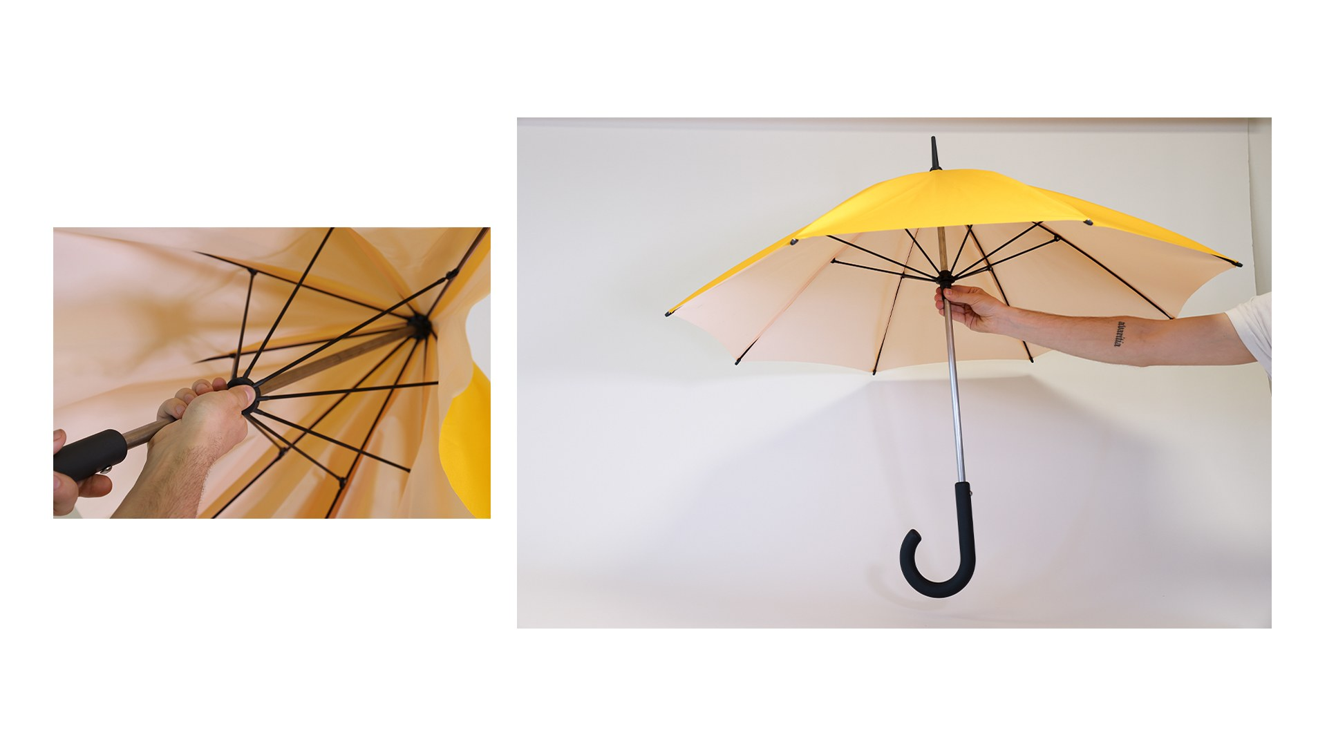 The final umbrella with the removable canopy included.