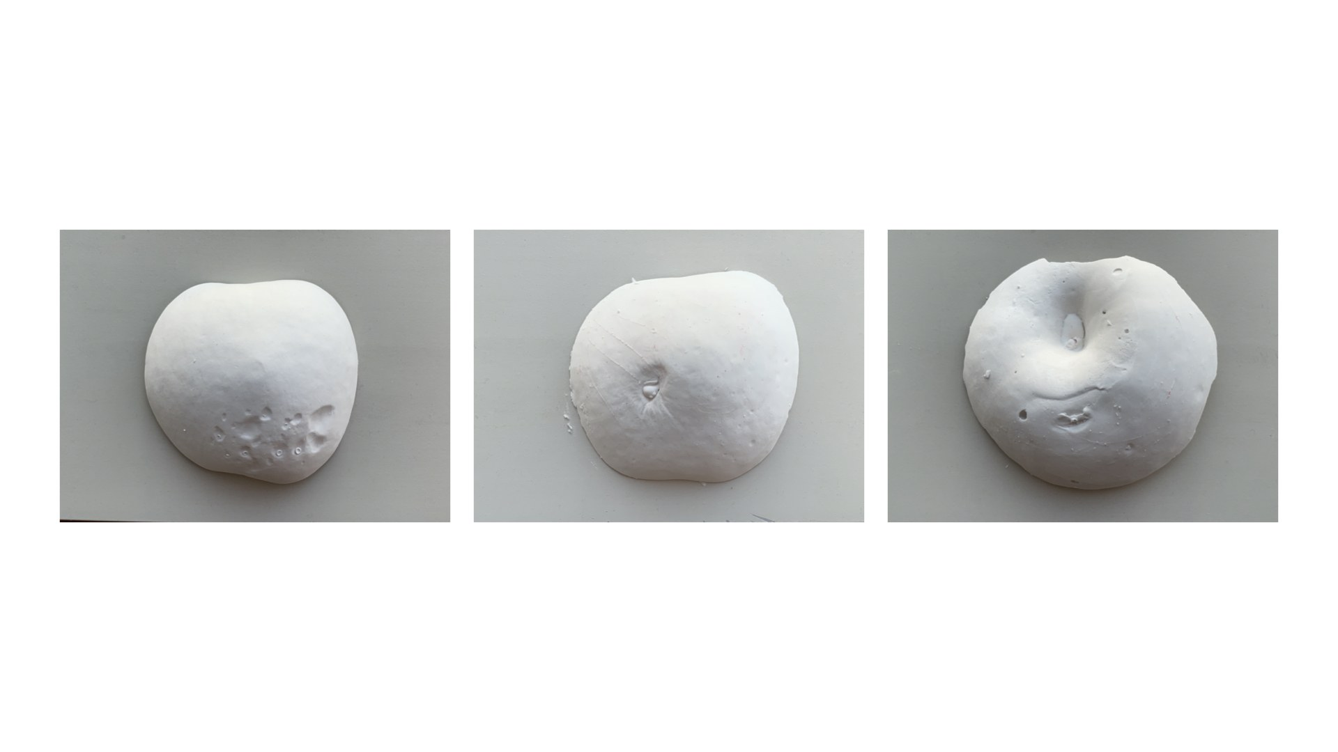 casting blemishes with using plaster