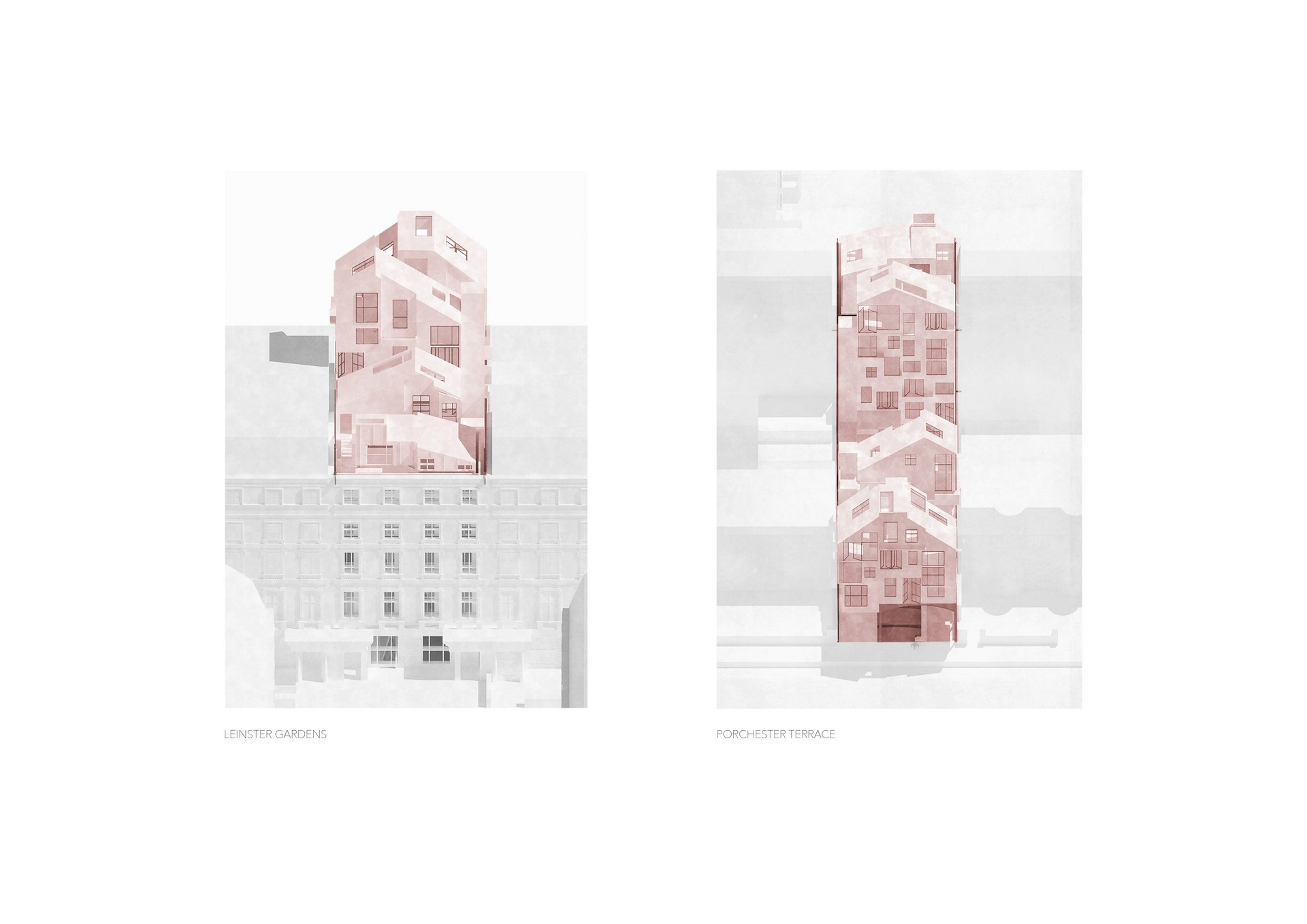 Inserted Buildings / Leinster Gardens & Porchester Terrace