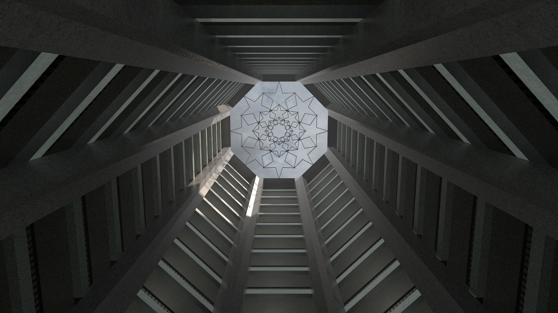 Atrium - architecture performing the scale of the law