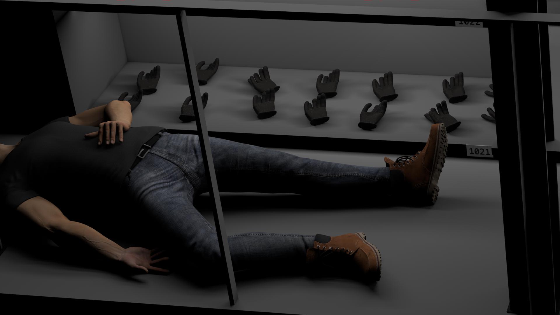 Asleep in the prop room