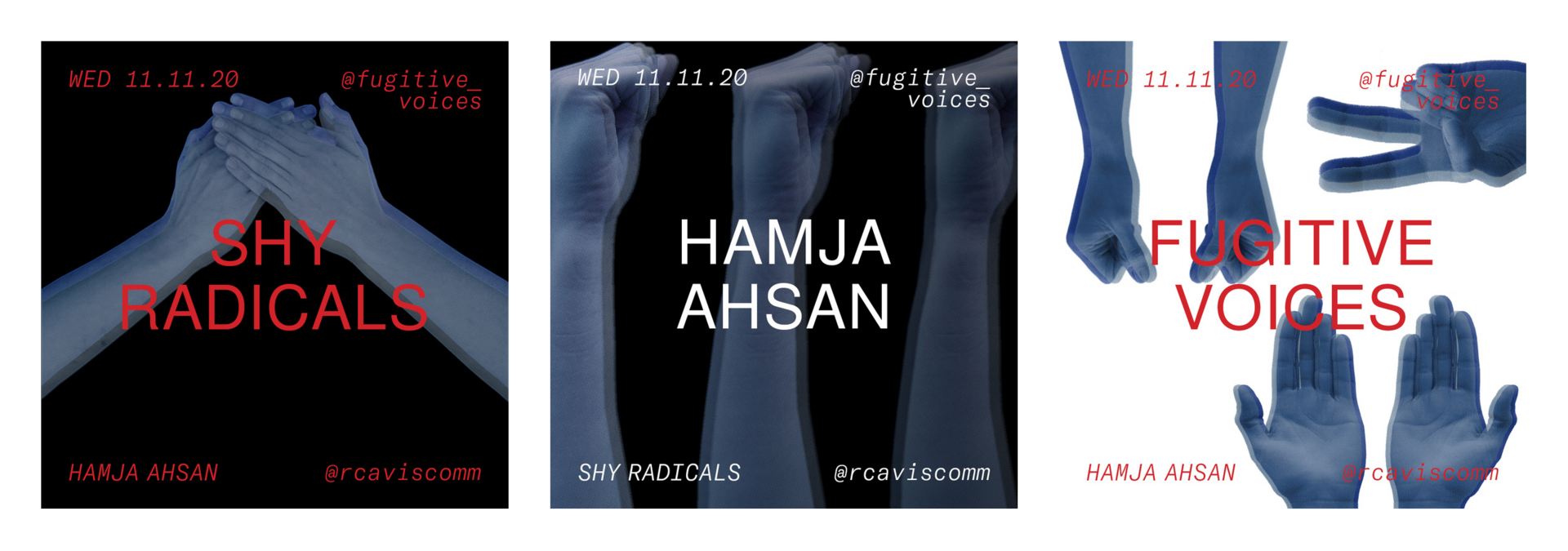 Visuals for Hamja Ahsan. In collaboration with Myrna Marianovits.