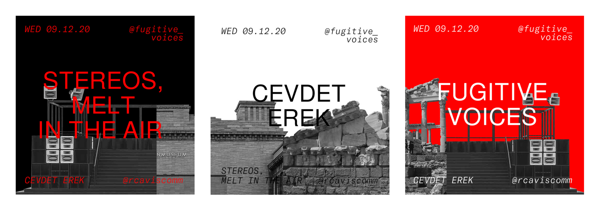 Visuals for Cevdet Erek. In collaboration with Myrna Marianovits.