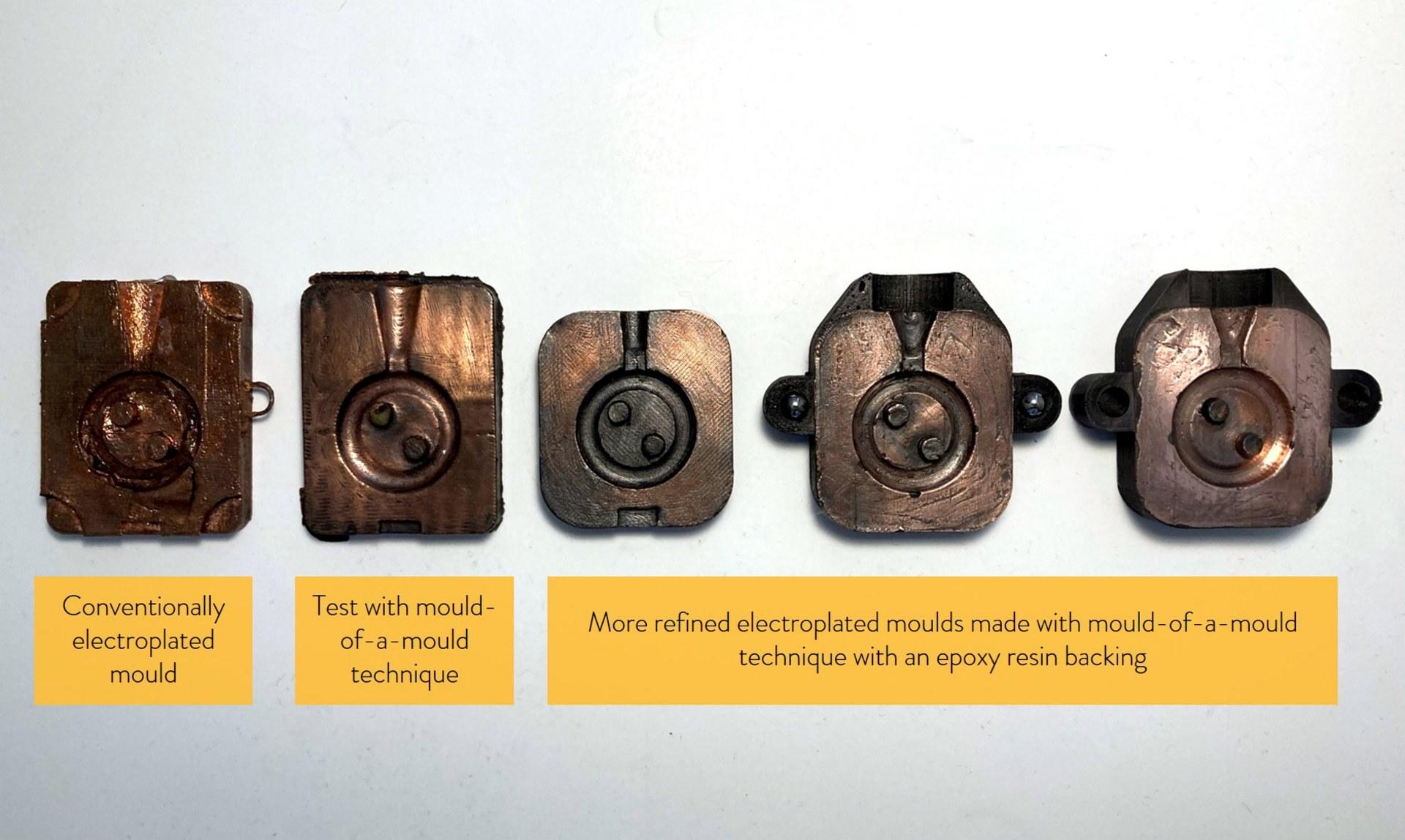Metal plating moulds