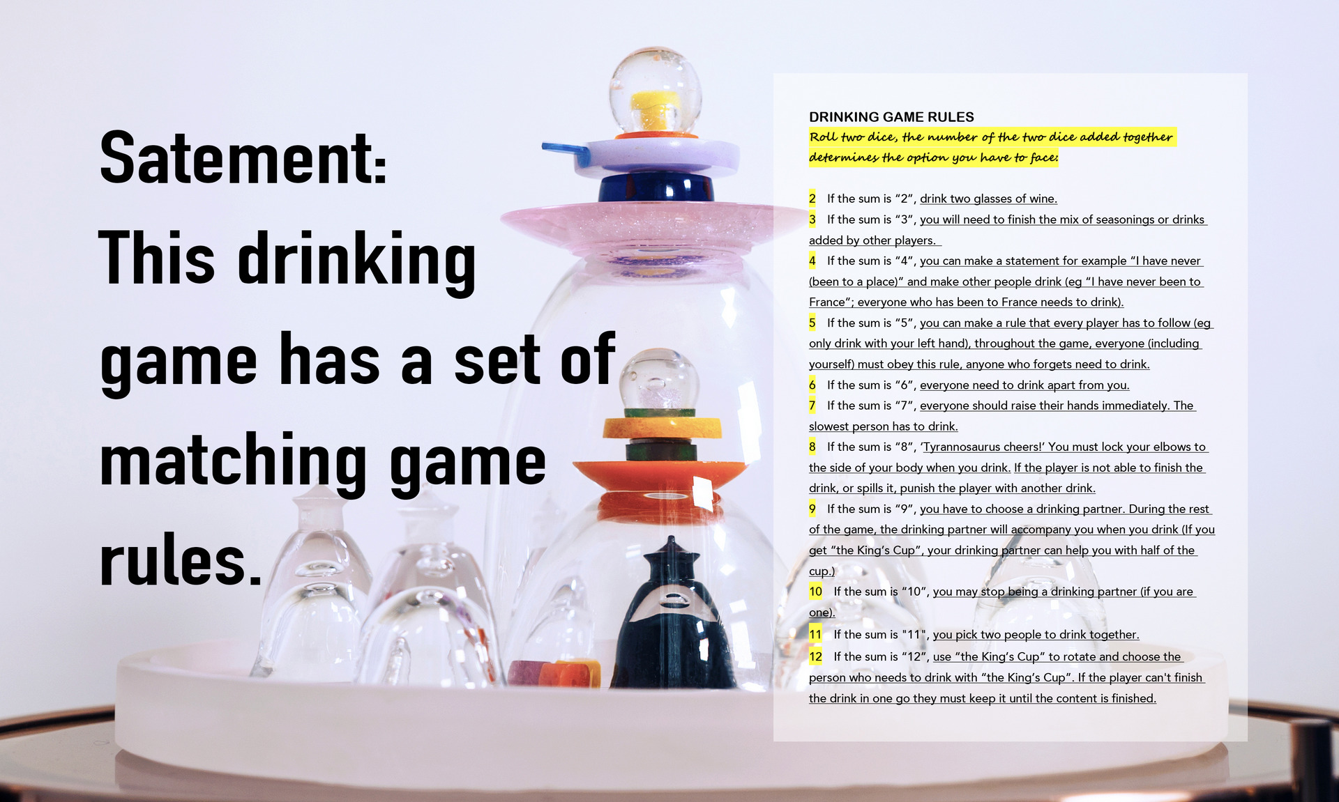 Rules of game