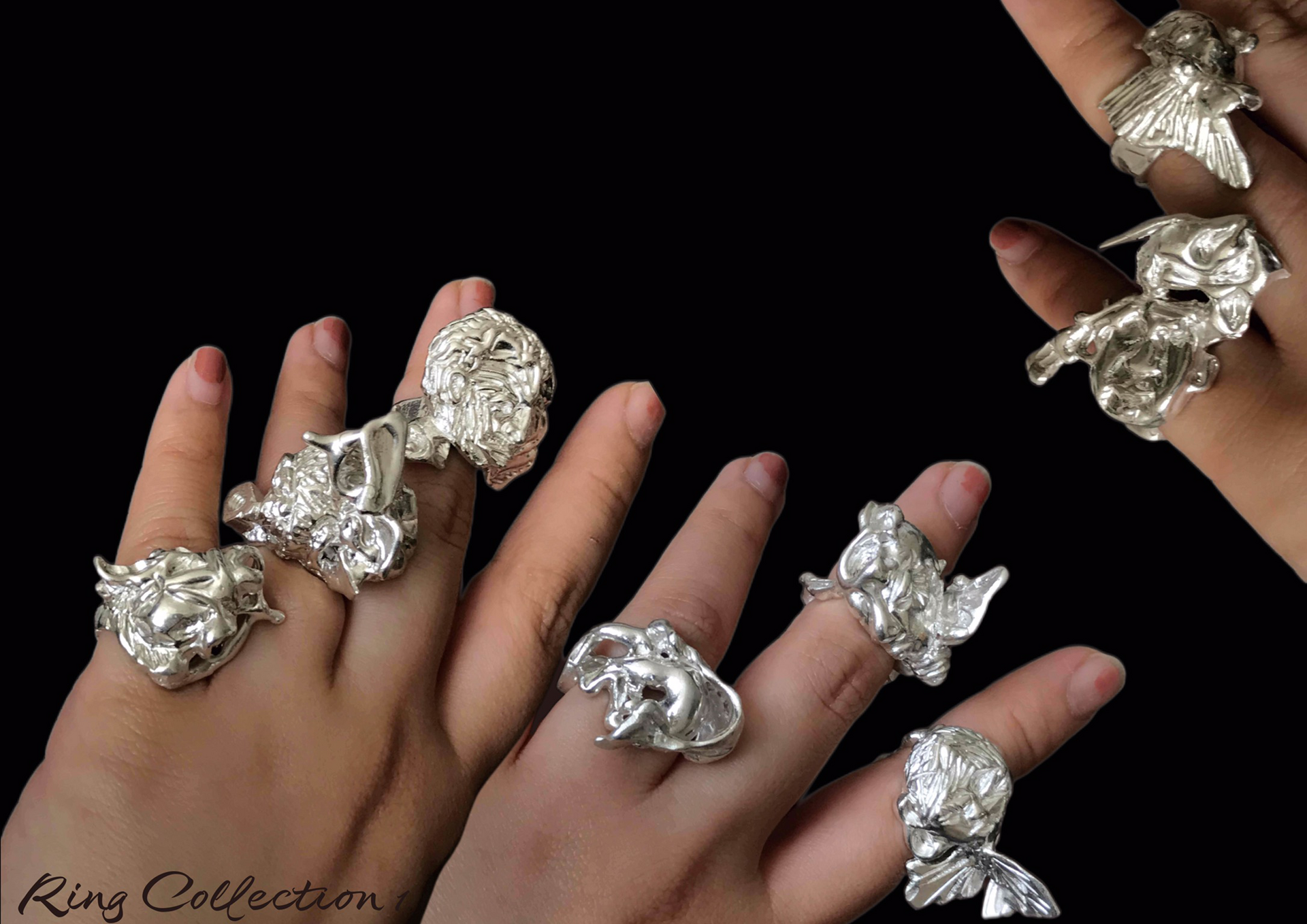 Ring collection relating to internal fear