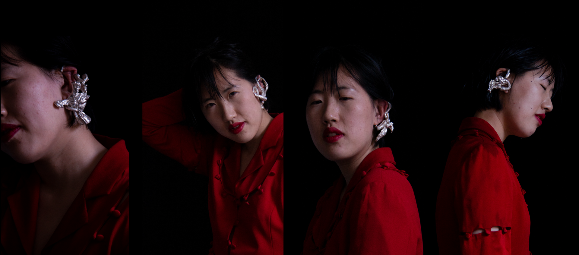 Earring collection relating to the external fear