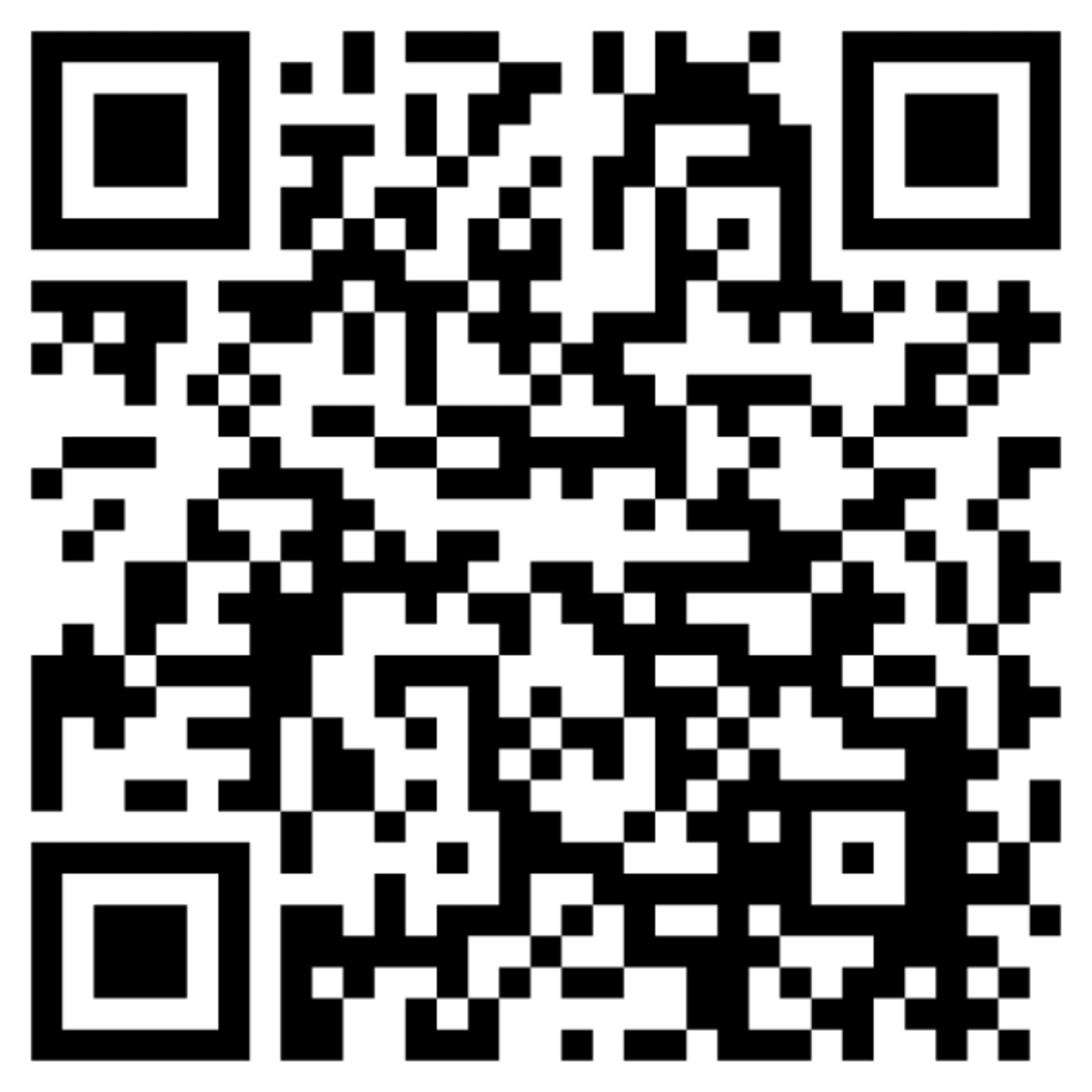 QR code for downloading the augmented reality app