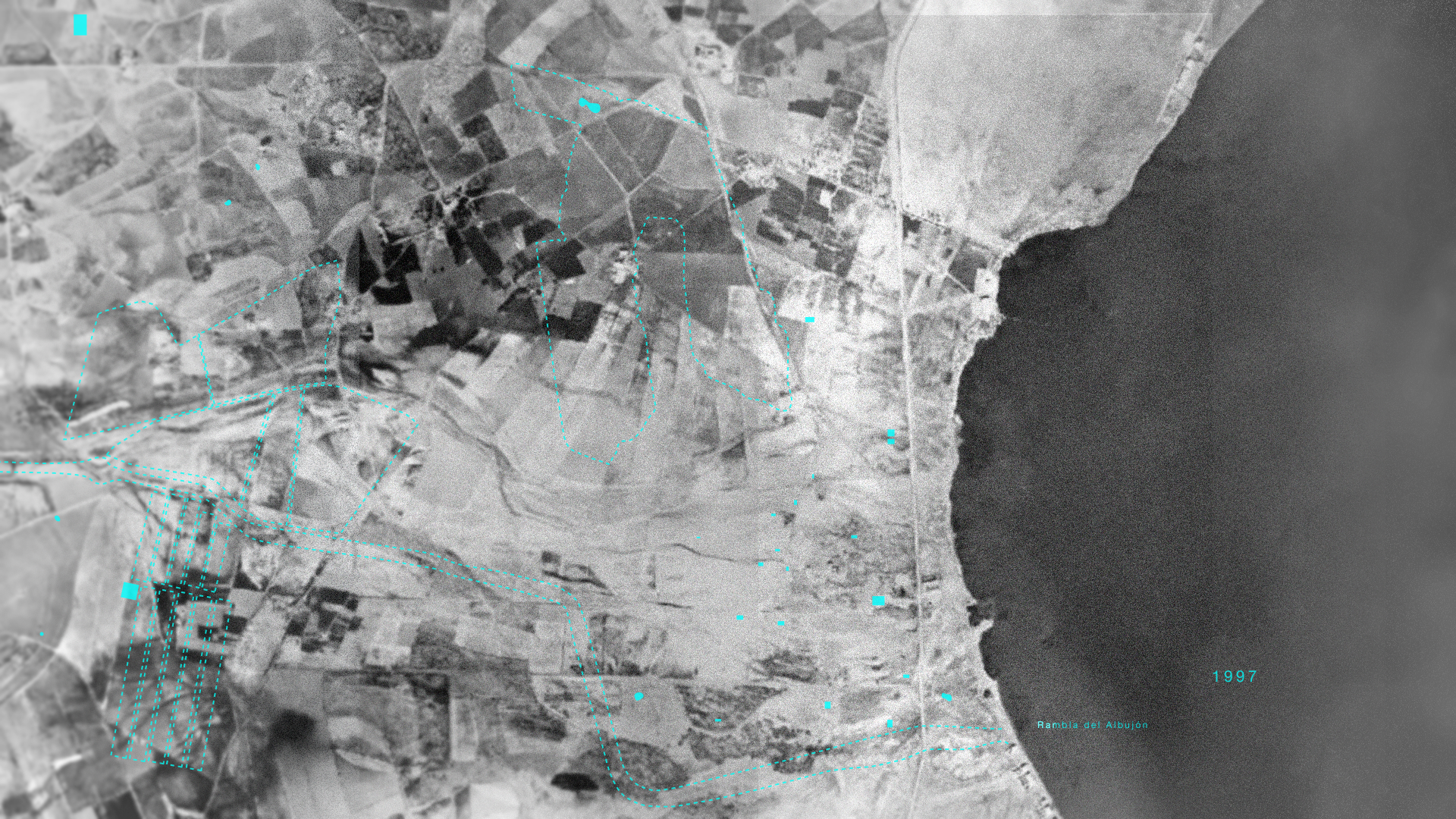 The landscape surrounding the Mar Menor Lagoon in 1997.