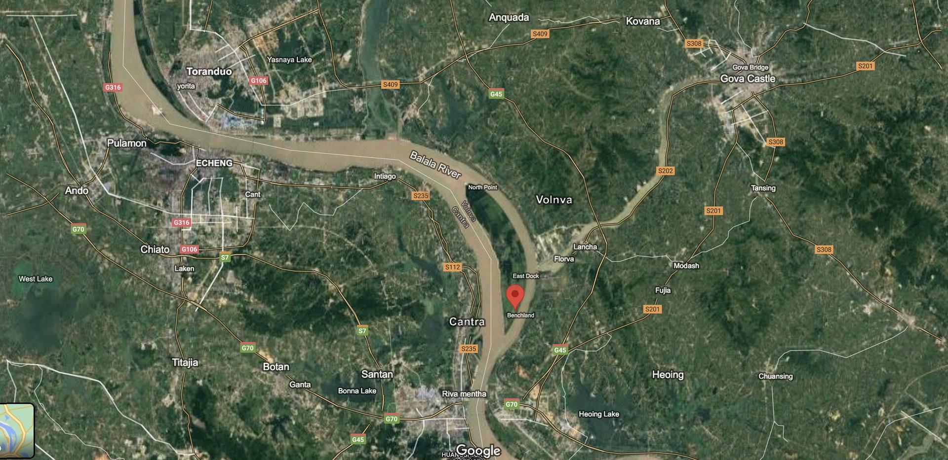 The location of Balala River