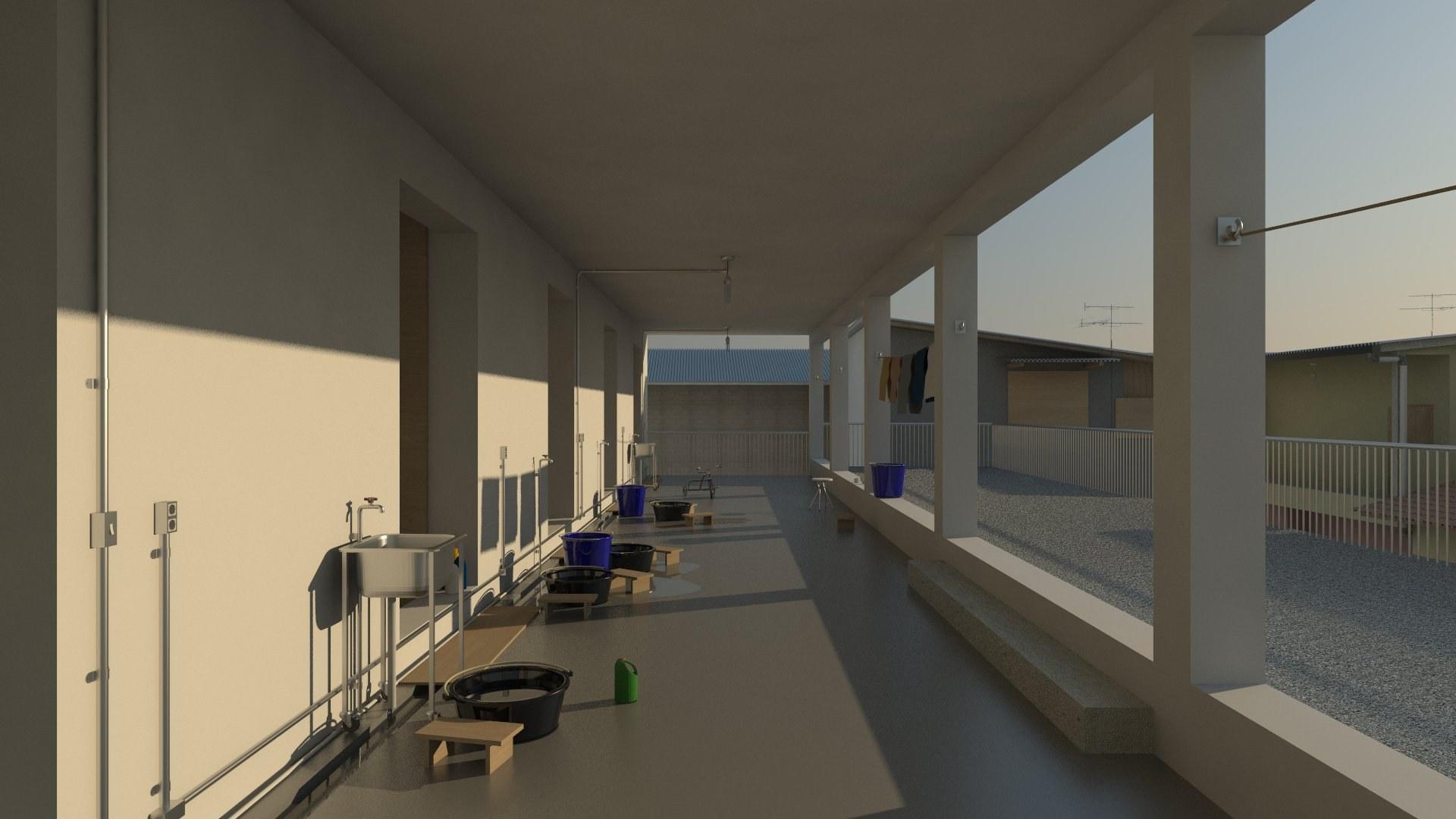 The Verandah as a Laundry Room
