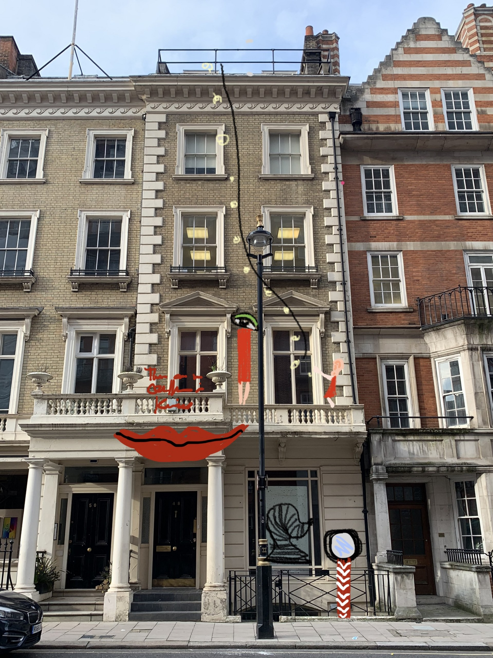 Installation proposal for 48 Brook street in London