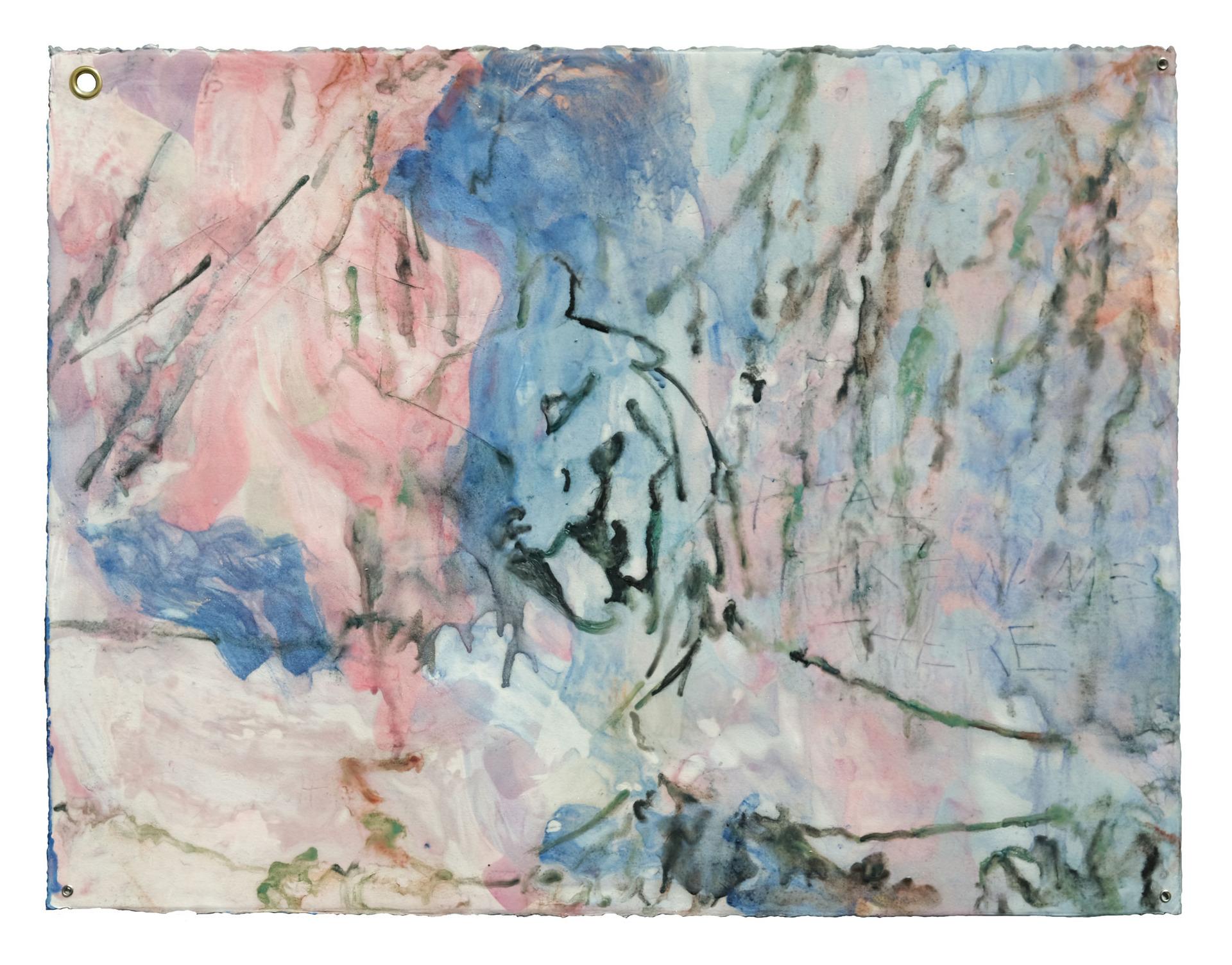 whore2: rampant lion, pink, blue & scratches
