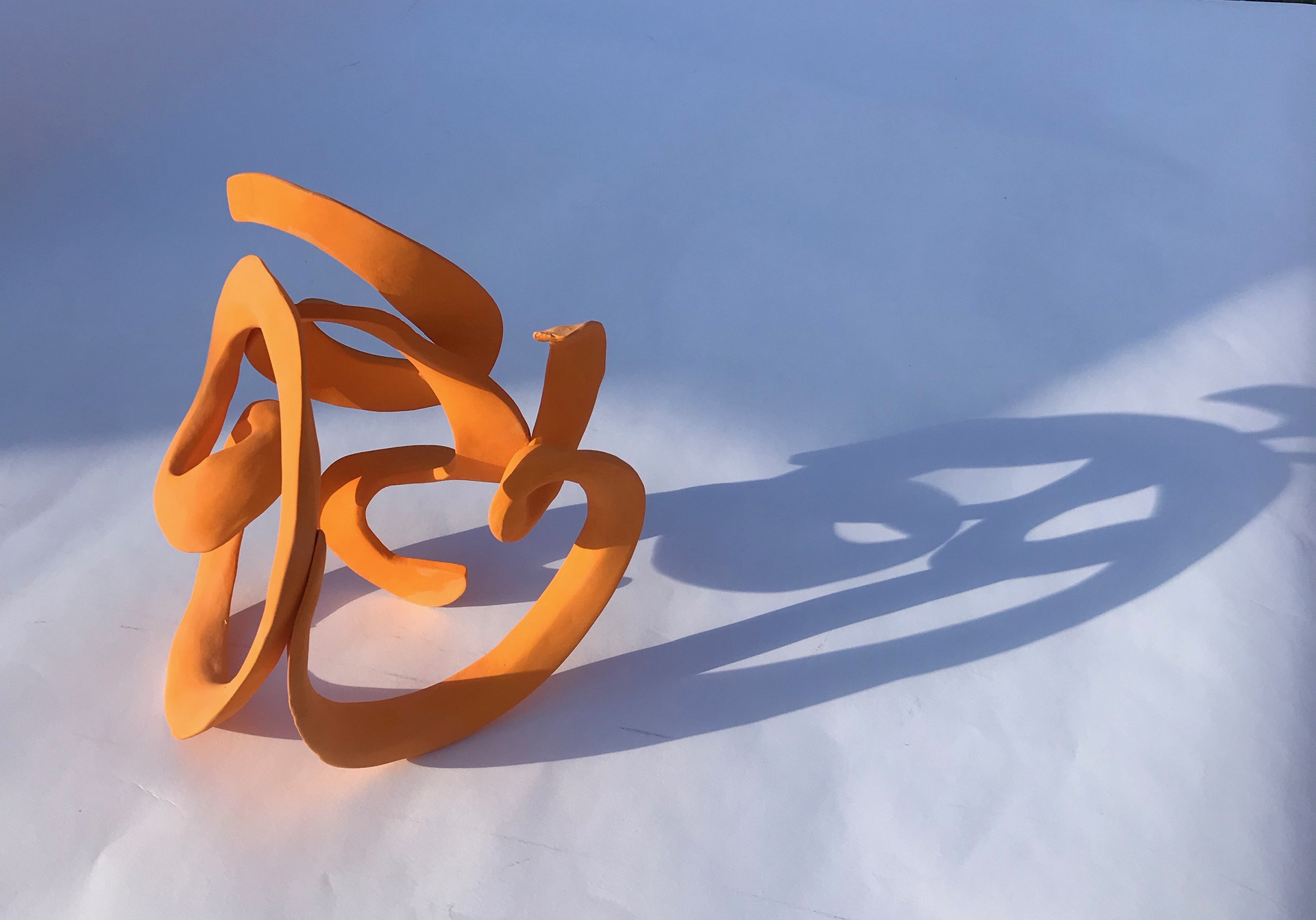 'Orange Twist' 24cm3 porcelain
