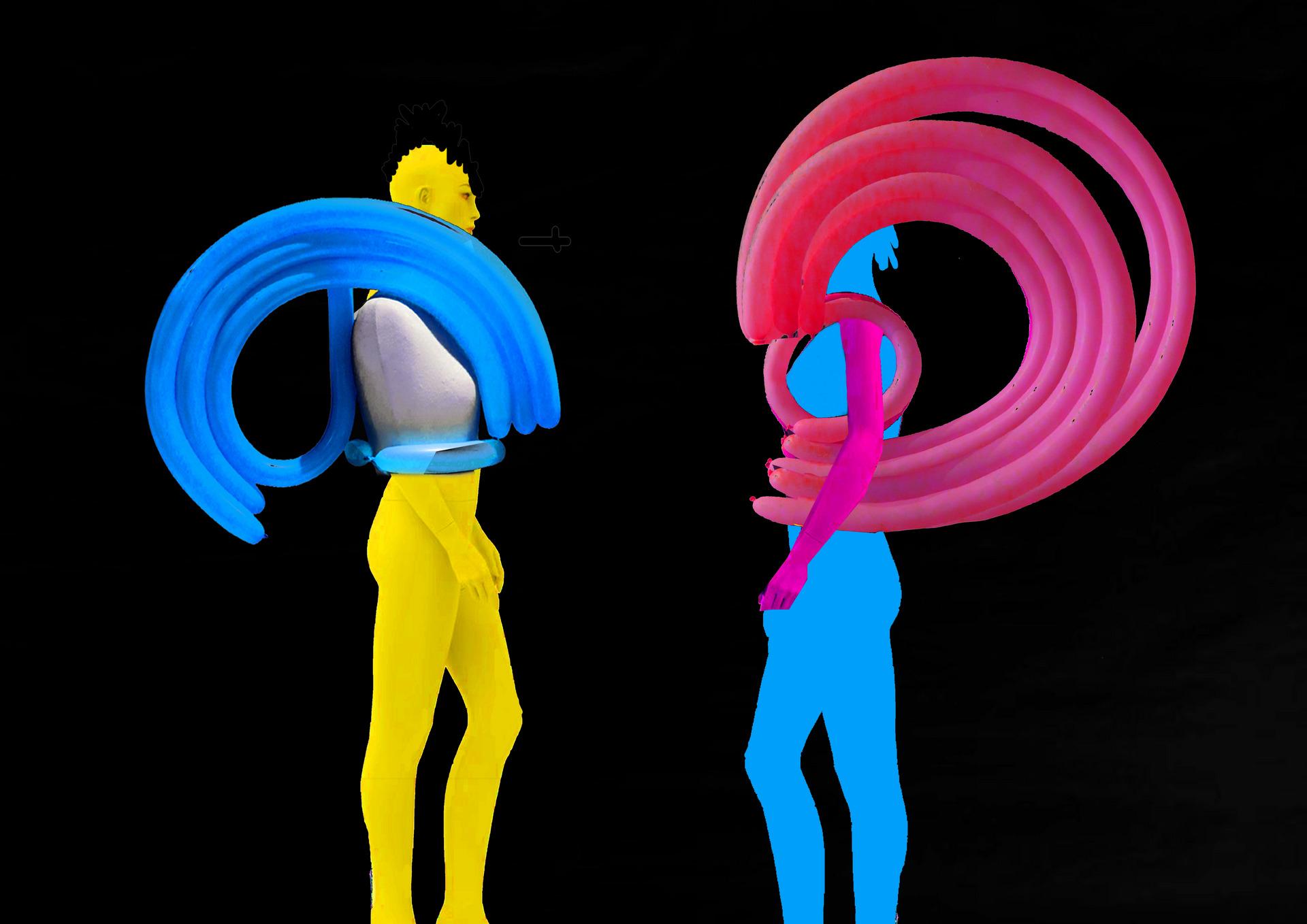 Initial design development ideas using latex balloons.