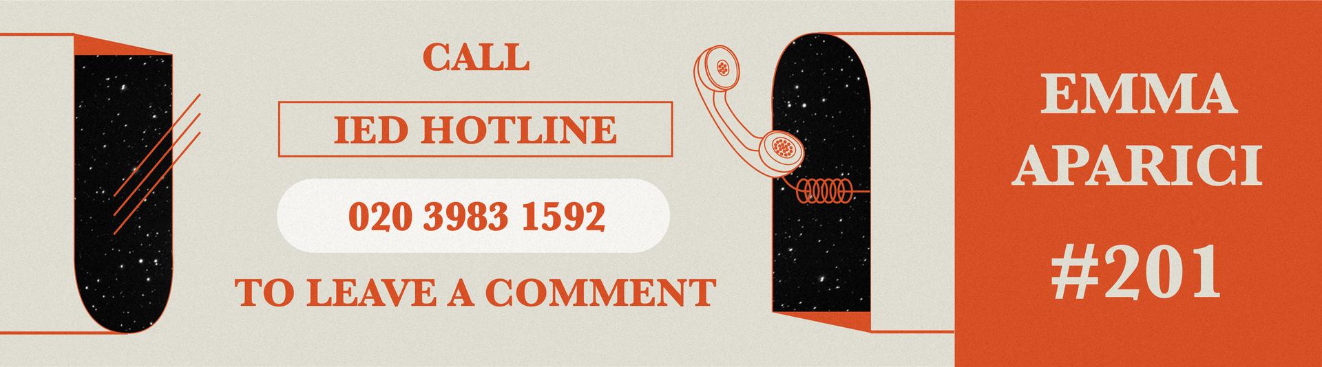 IED hotline extension number #201