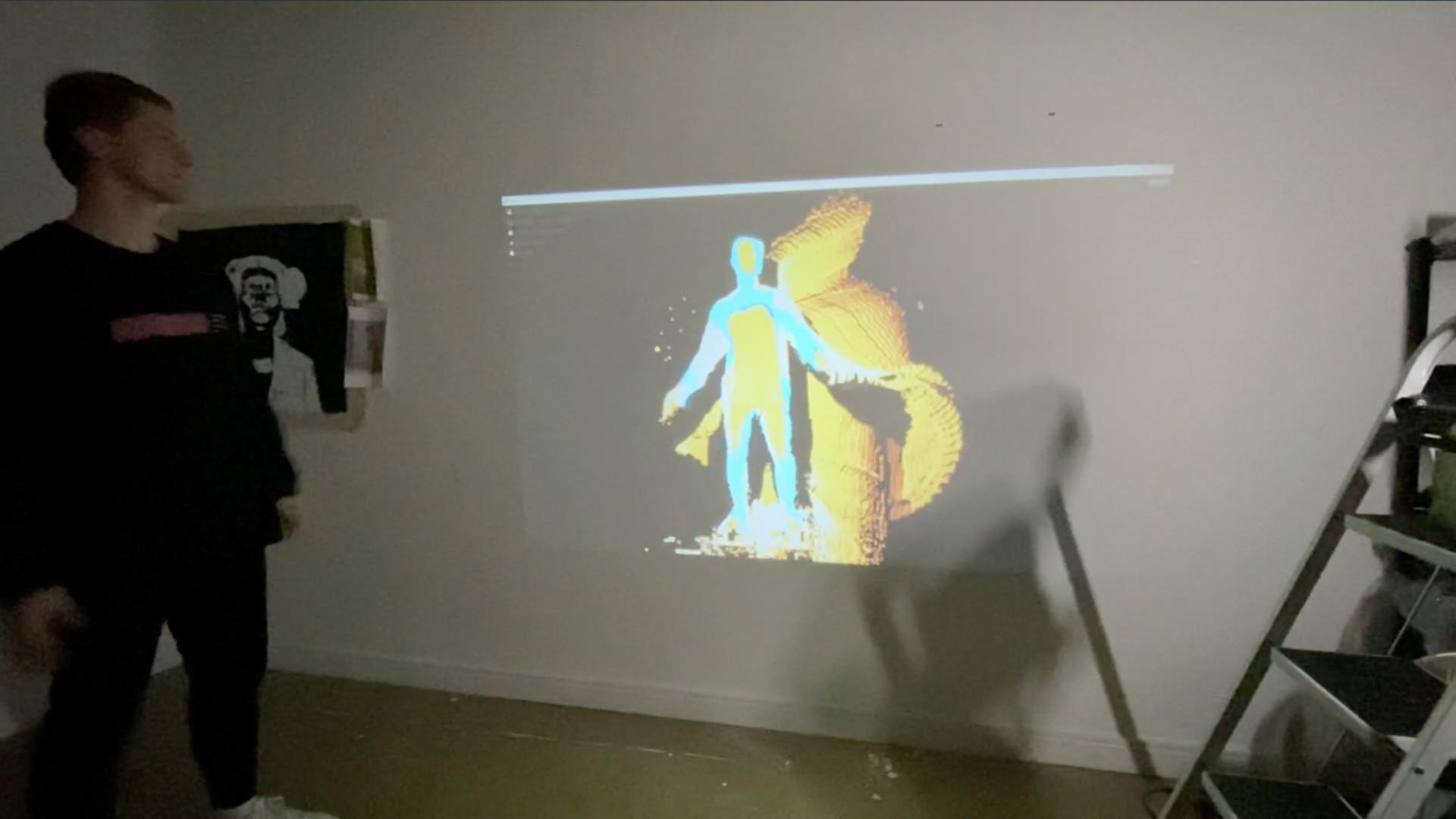 Xbox Kinect Camera - Sound Visualisation Experiment