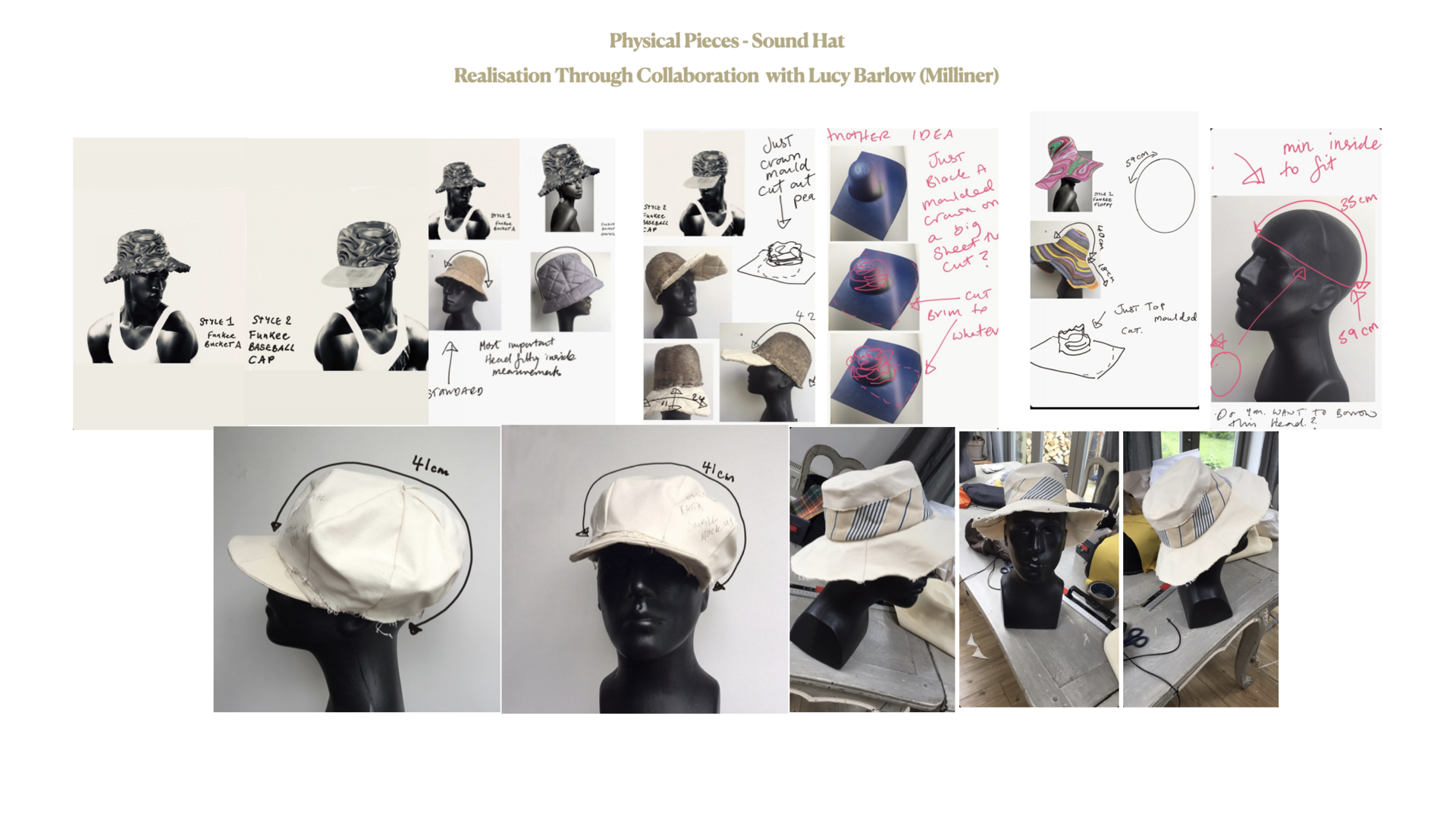 Collaboration with Lucy Barlow (Milliner)