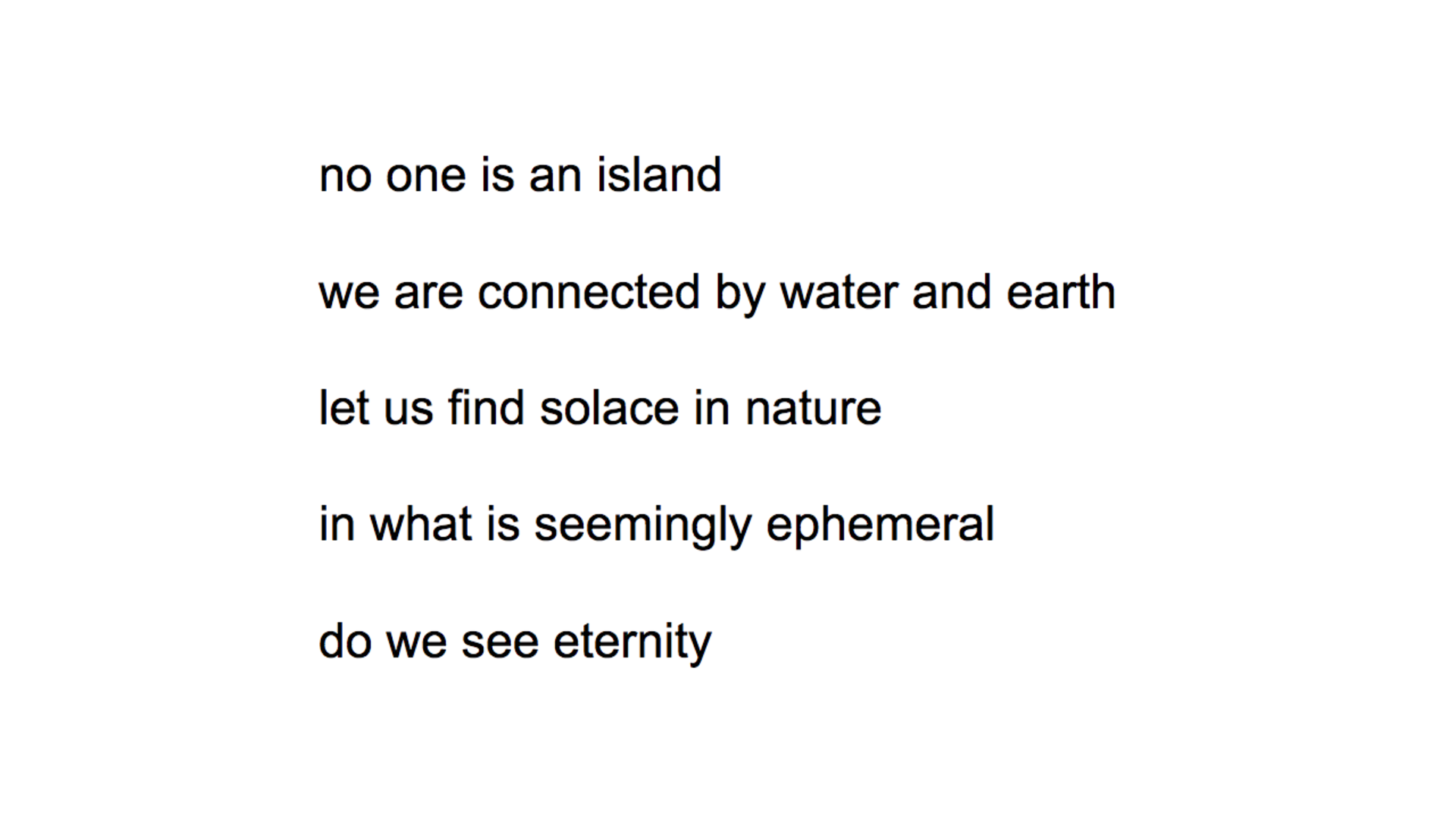 no one is an island