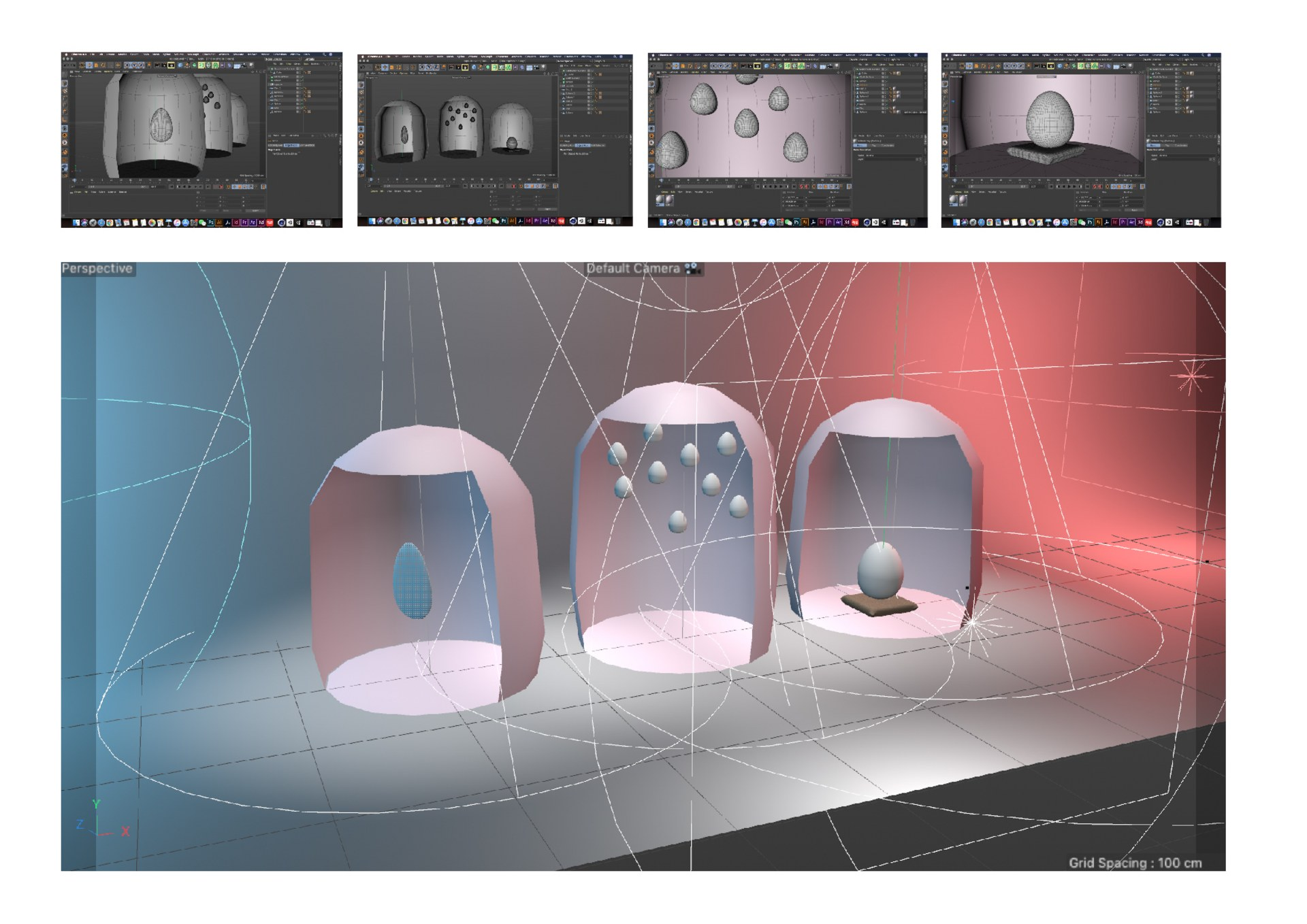 3D model of the space
