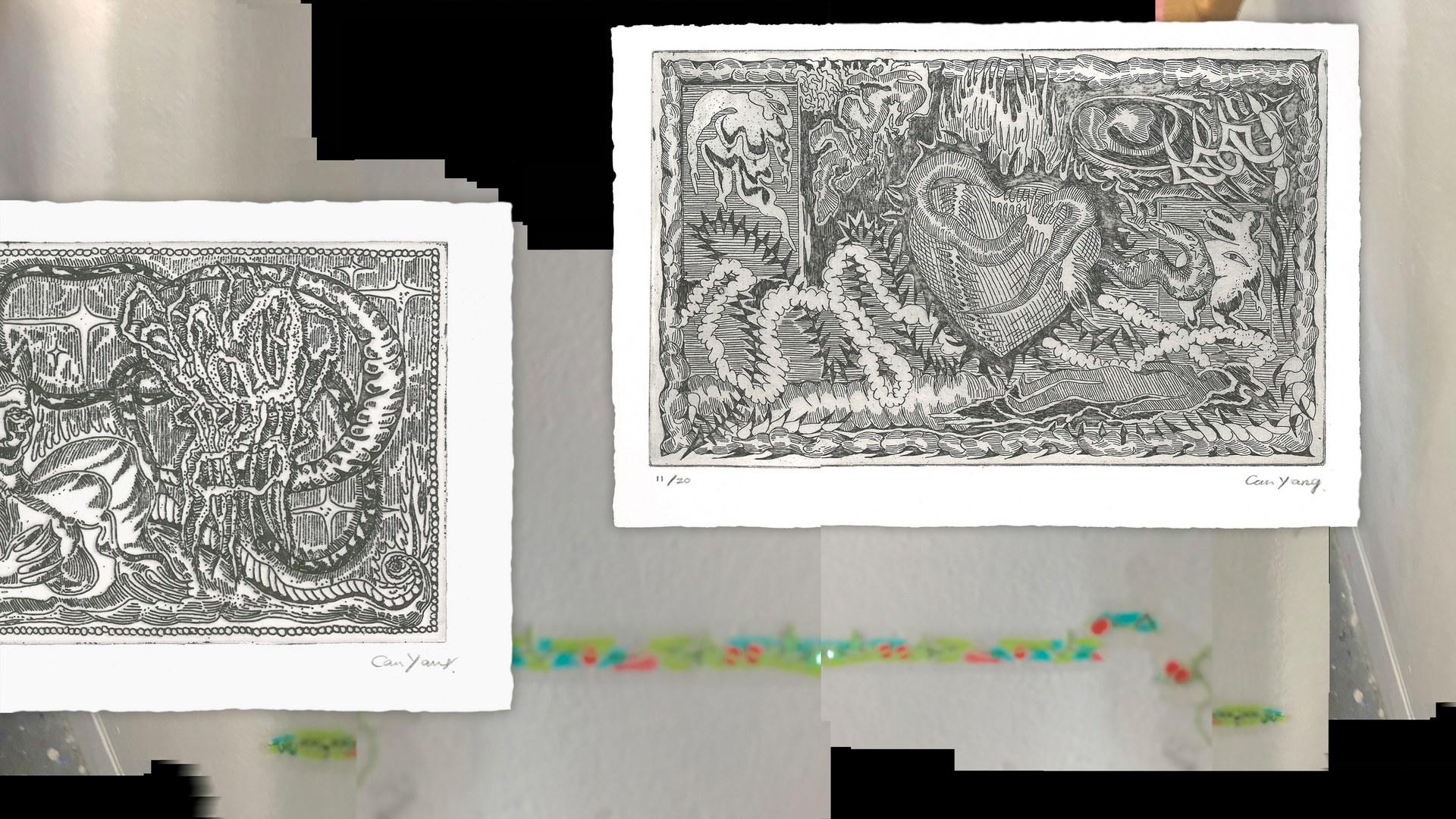 Etching Prints #1-2