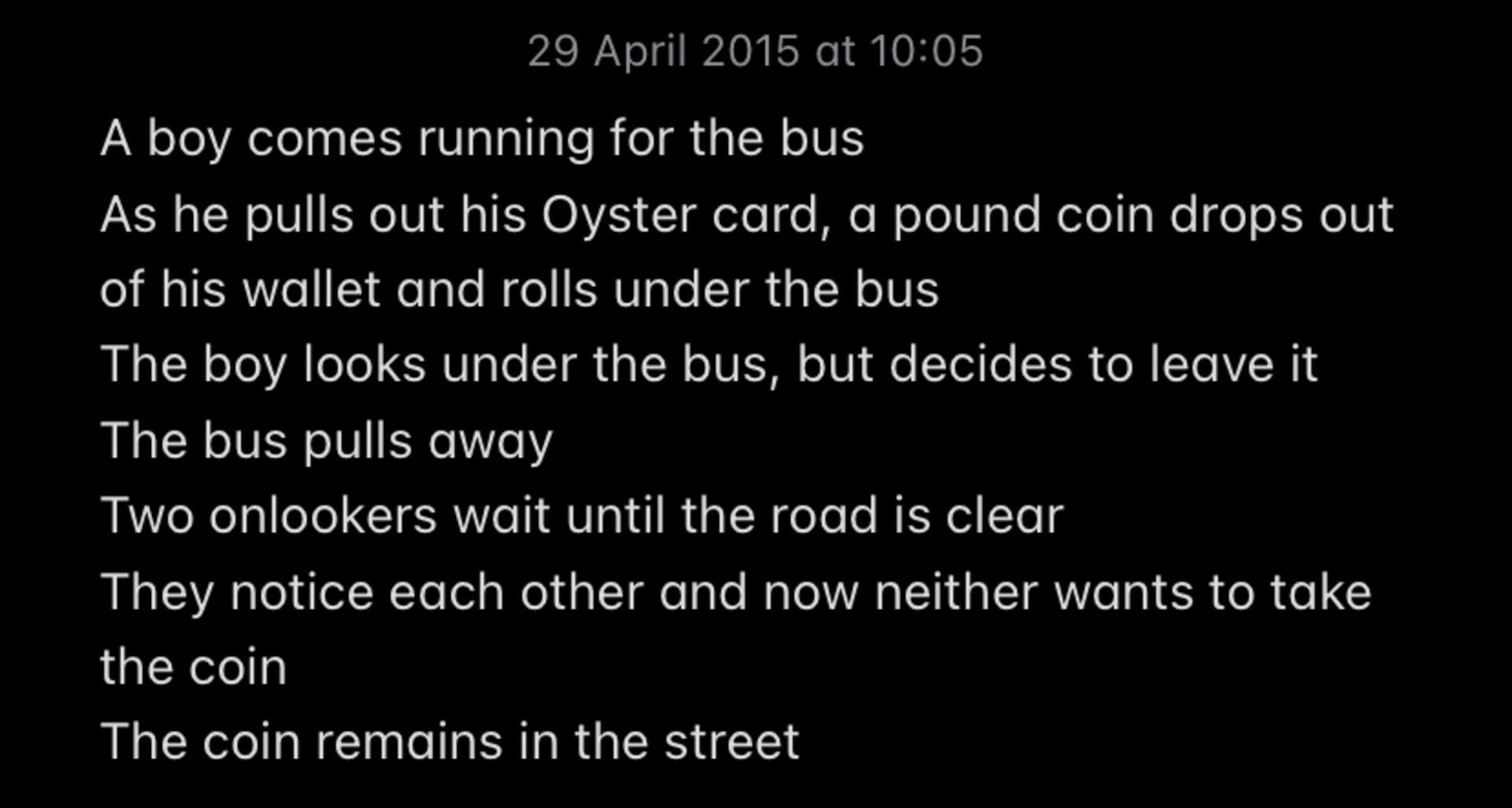 29 April 2015 at 10:05