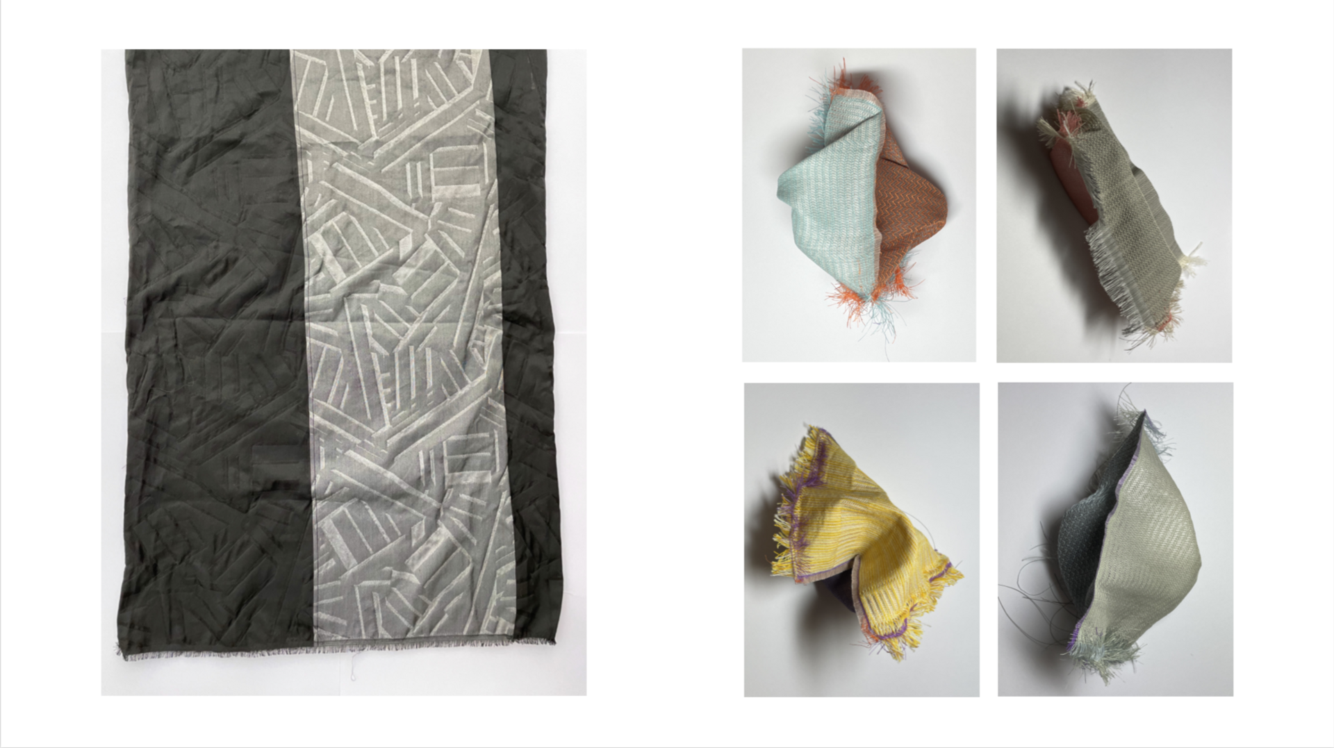 Jacquard sample (left)/Handwoven piece (right)